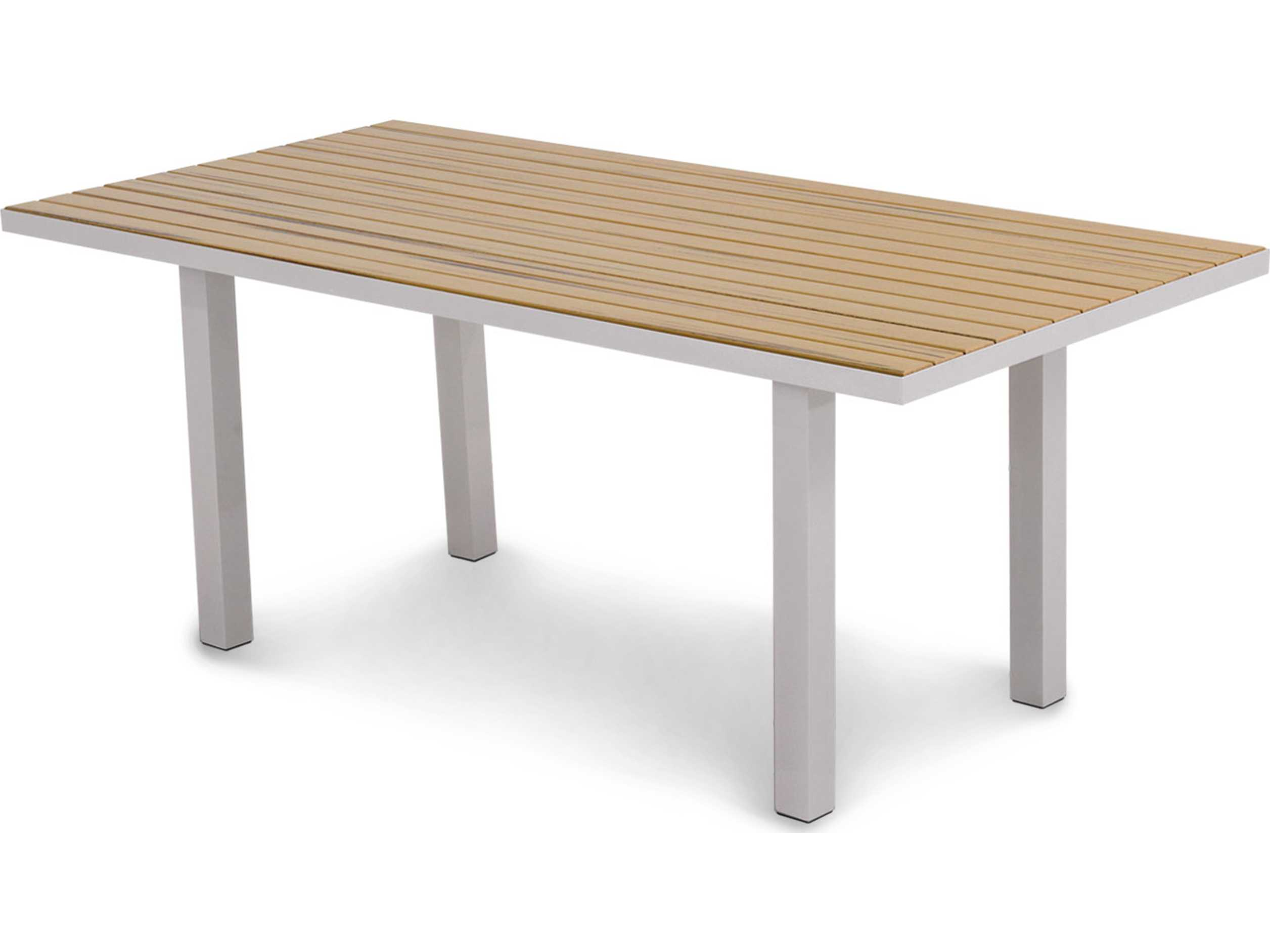 POLYWOOD Euro Plastique 72 X 36 Rectangular Dining Table AT3672NT