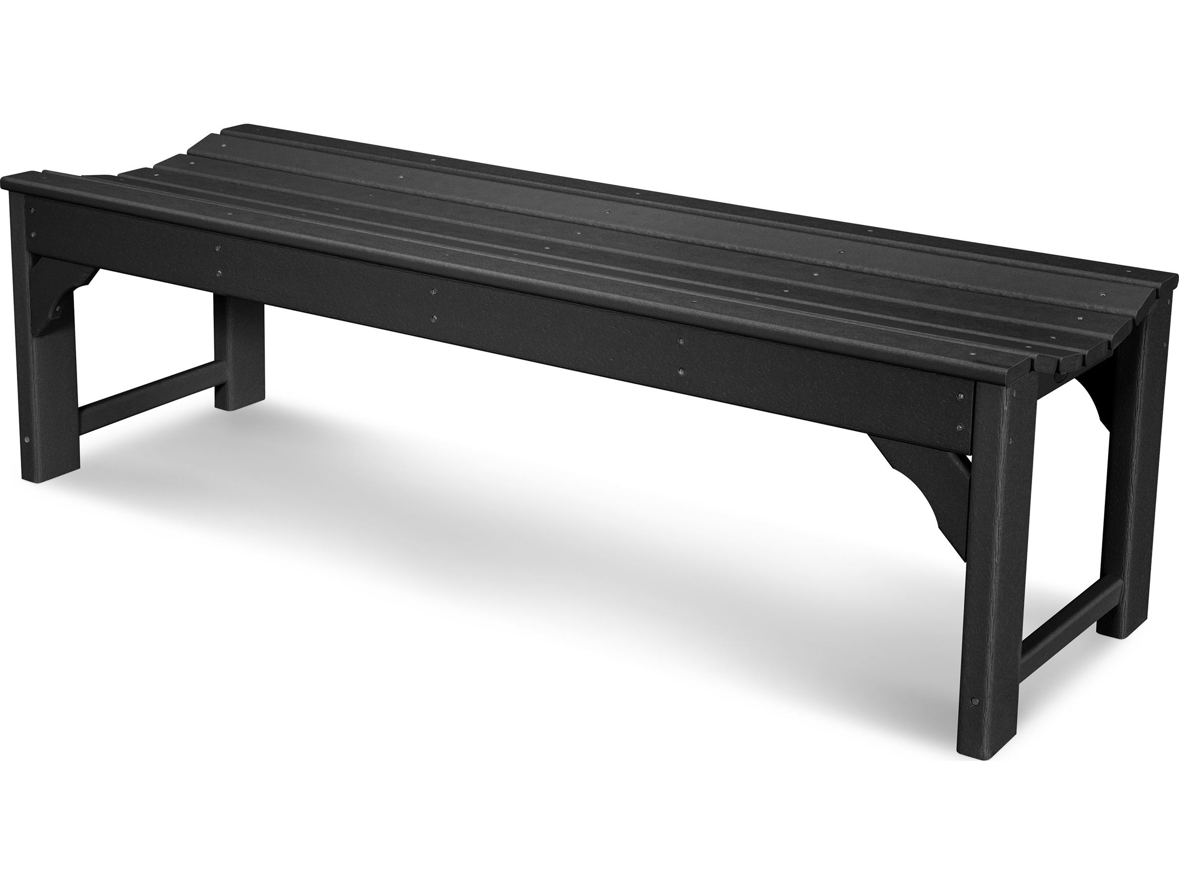 Polywood traditional garden recycled plastic 60 side bench bab160 Polywood bench