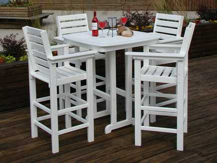 Counter Height Patio Dining Sets : POLYWOOD? Captain Counter Height Dining Set CAPTABHS