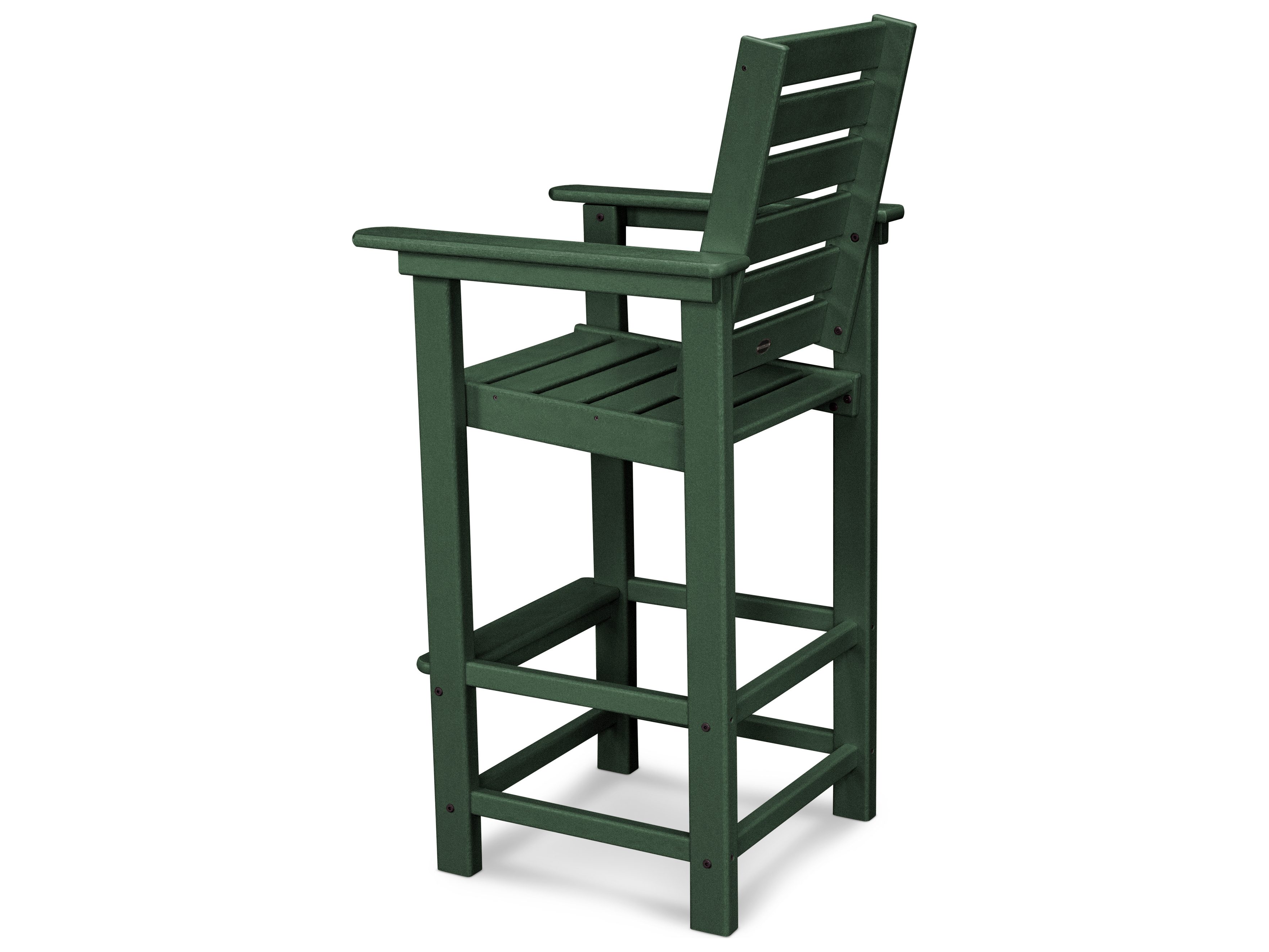 polywood® captain recycled plastic bar chair  ccb - hover to zoom