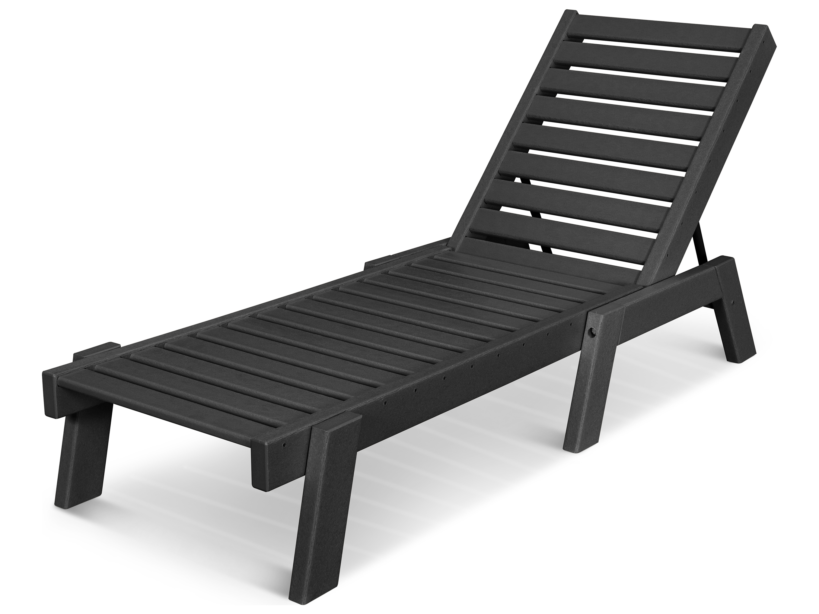 POLYWOOD Captain Recycled Plastic Chaise Lounge CH7826 1