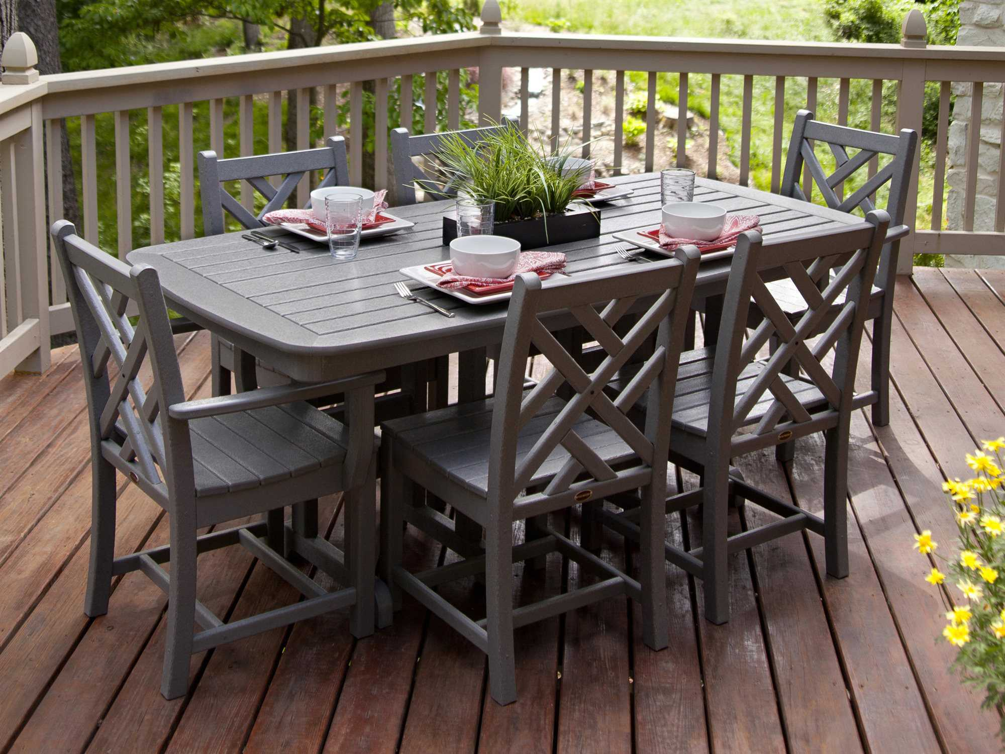 Polywood 174 Nautical Recycled Plastic 72 X 37 Dining Table
