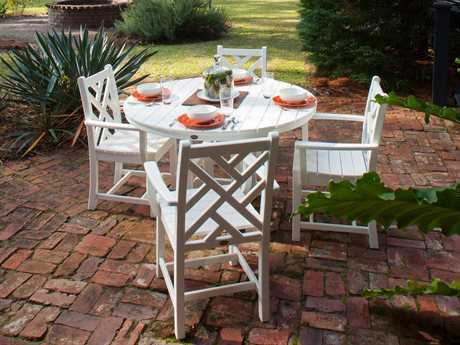 POLYWOOD Chippendale Recycled Plastic 4 Person Recycled Plastic Casual Patio Dining Set