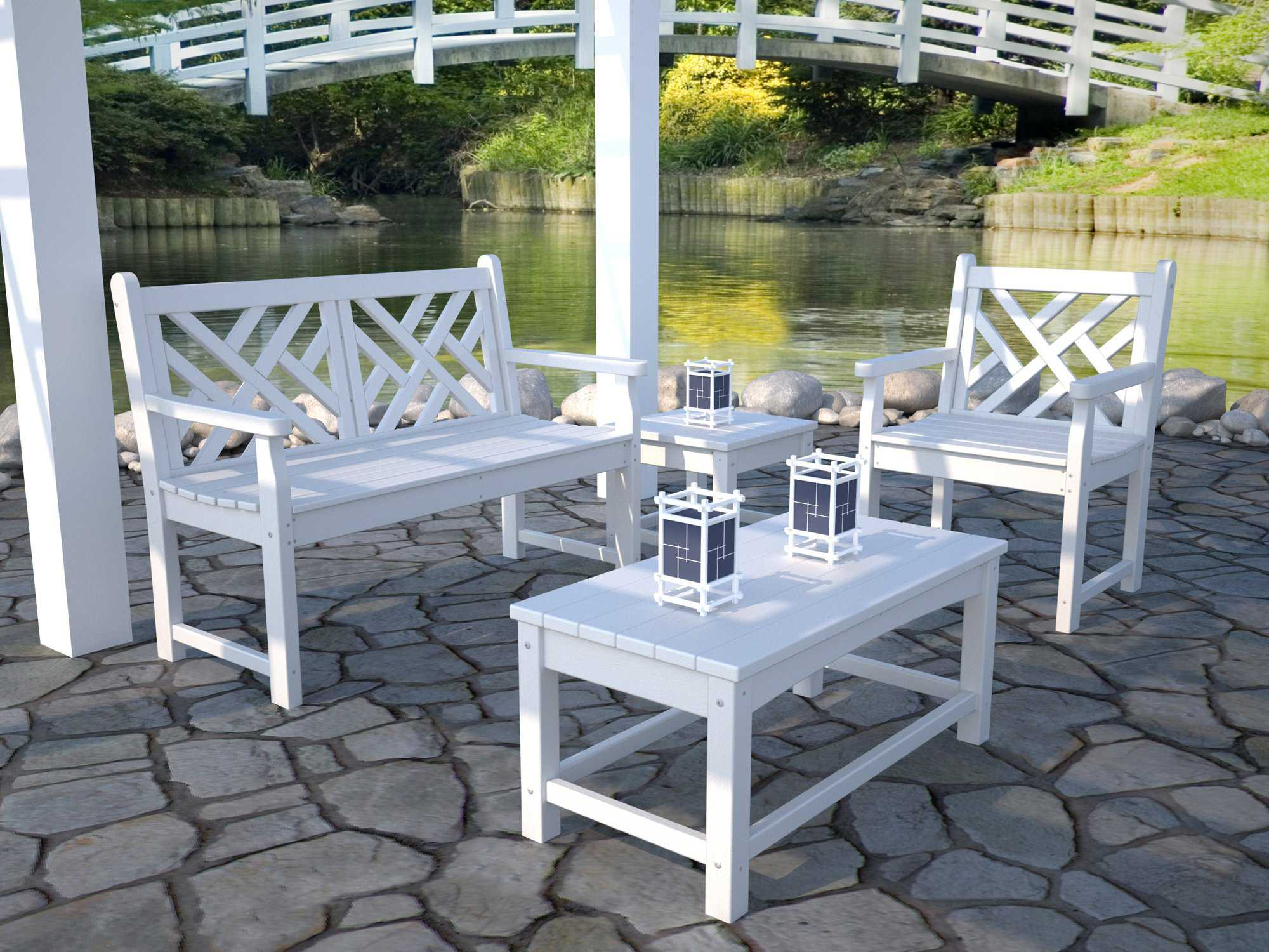 POLYWOOD Chippendale Recycled Plastic Lounge Chair