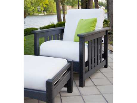 POLYWOOD Club Recycled Plastic 1 Person Cushion Conversation Patio Lounge Set