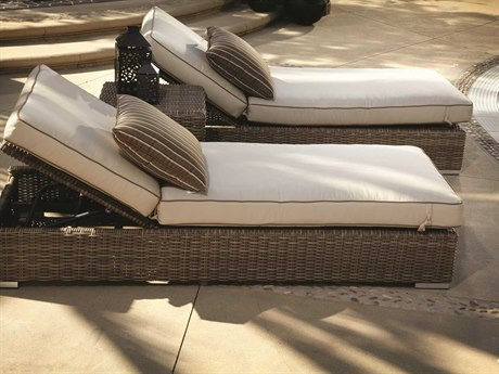 Sunset West Coronado Wicker 2 Person Cushion Conversation Patio Lounge Set