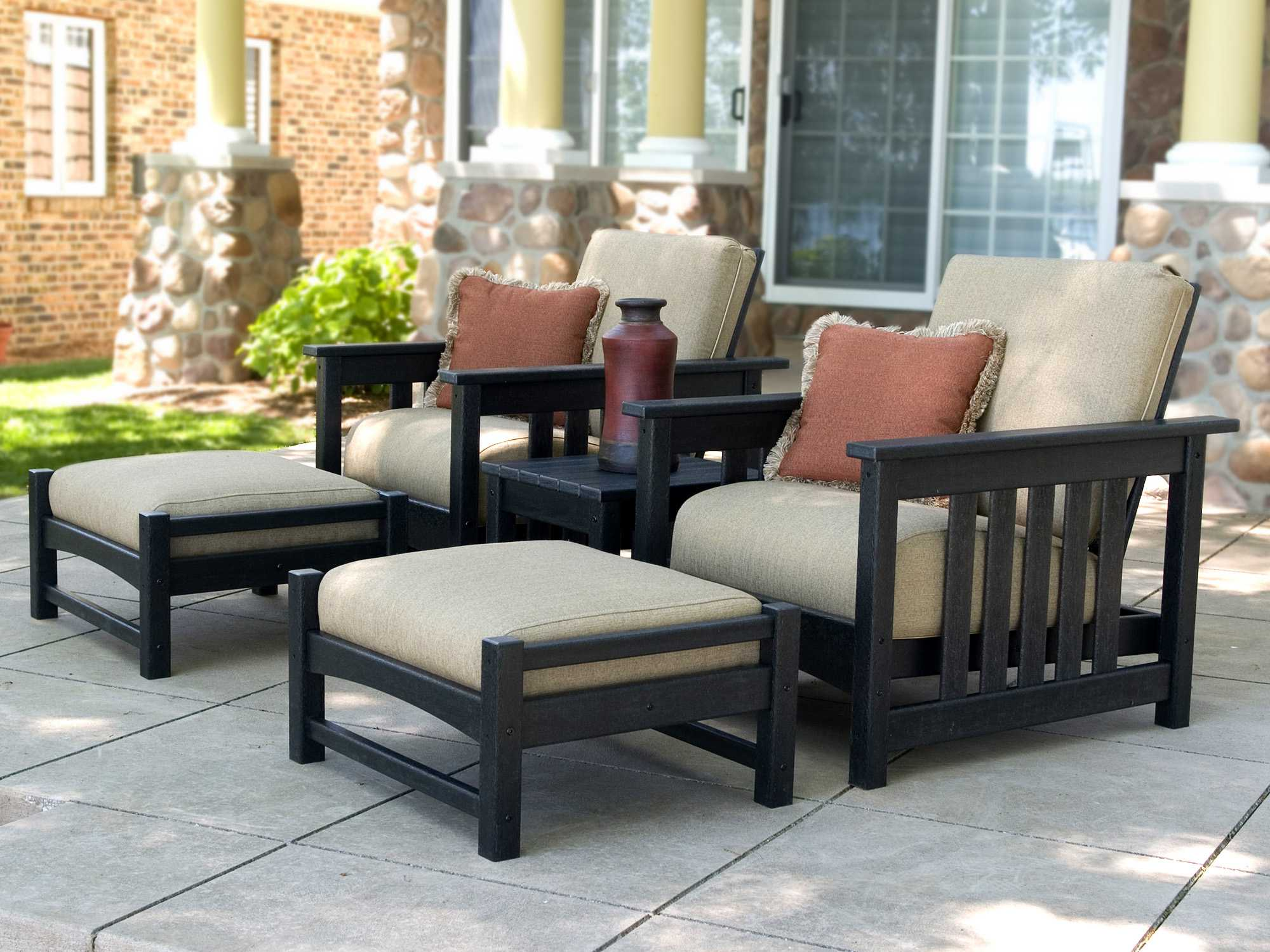 POLYWOOD Mission Recycled Plastic Deep Seating Club Lounge Set