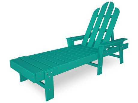 POLYWOOD Long Island Recycled Plastic Chaise Lounge Slate Grey - ECC76-SG