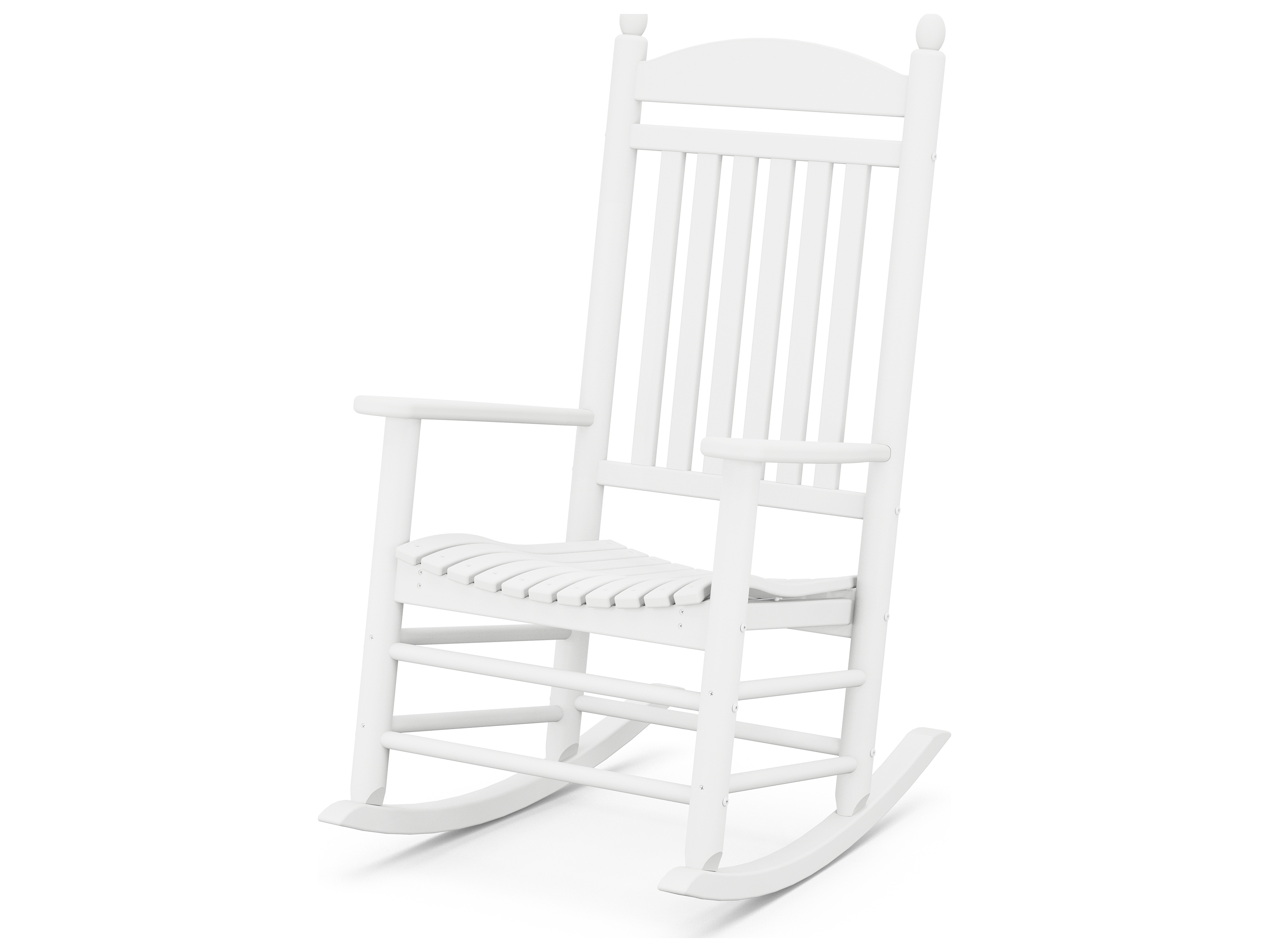 POLYWOOD Rocker Recycled Plastic Arm Lounge Chair
