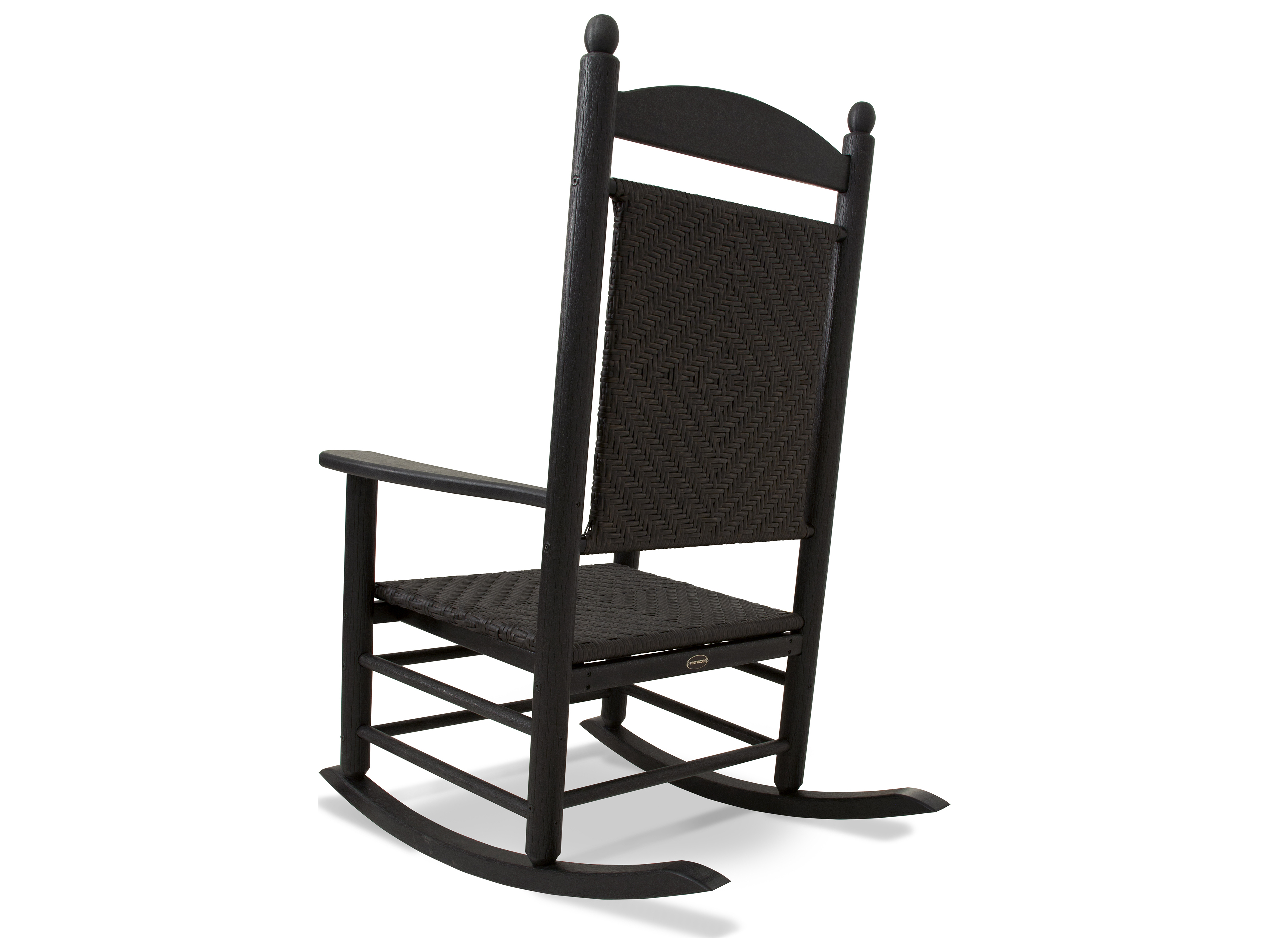 Polywood jefferson recycled plastic rocker lounge chair for Pvc pipe lounge chair