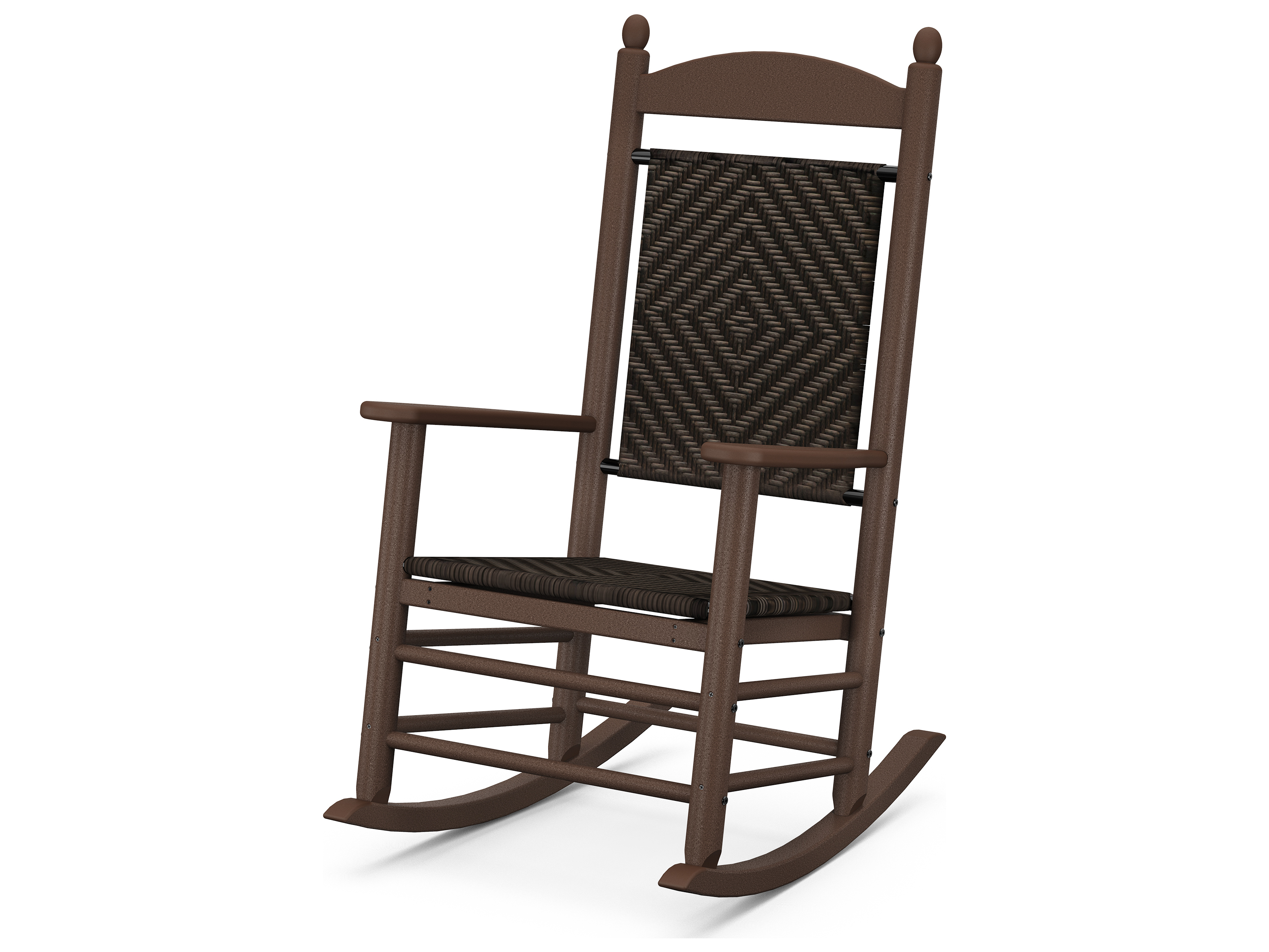 POLYWOOD Jefferson Recycled Plastic Rocker Lounge Chair