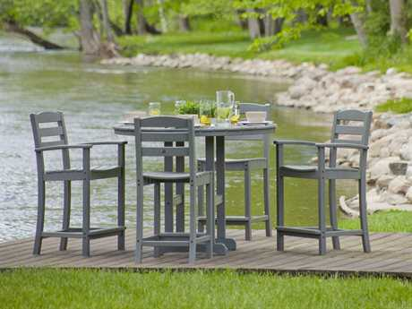 POLYWOOD La Casa Cafe Recycled Plastic 4 Person Recycled Plastic Casual Patio Dining Set