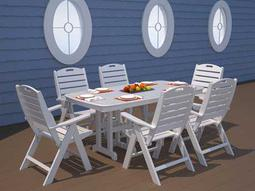 POLYWOOD® Nautical Recycled Plastic Dining Set