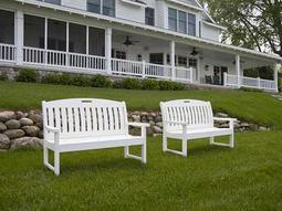 POLYWOOD® Nautical Recycled Plastic Bench Set