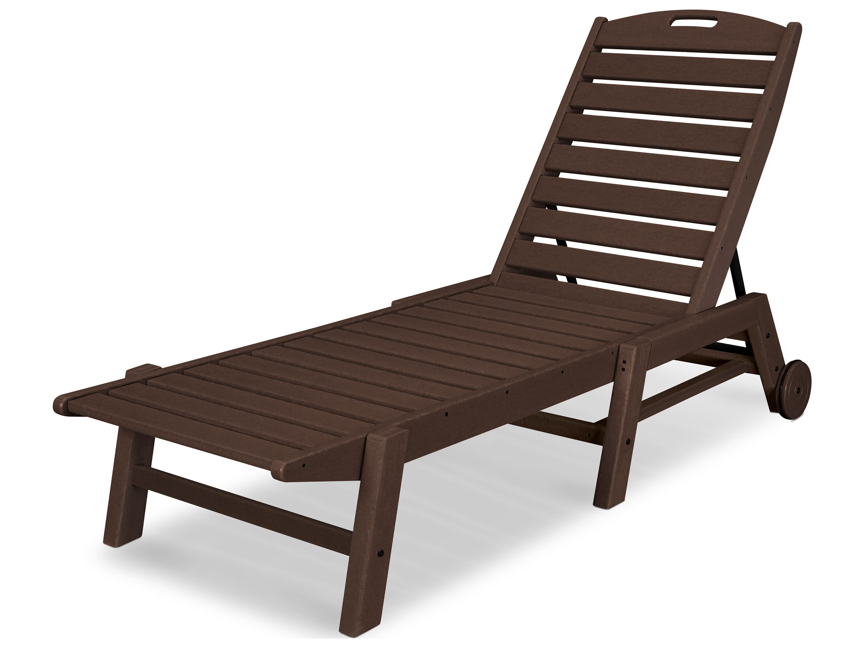 POLYWOOD Nautical Recycled Plastic Stackable Chaise Lounge NAW2280