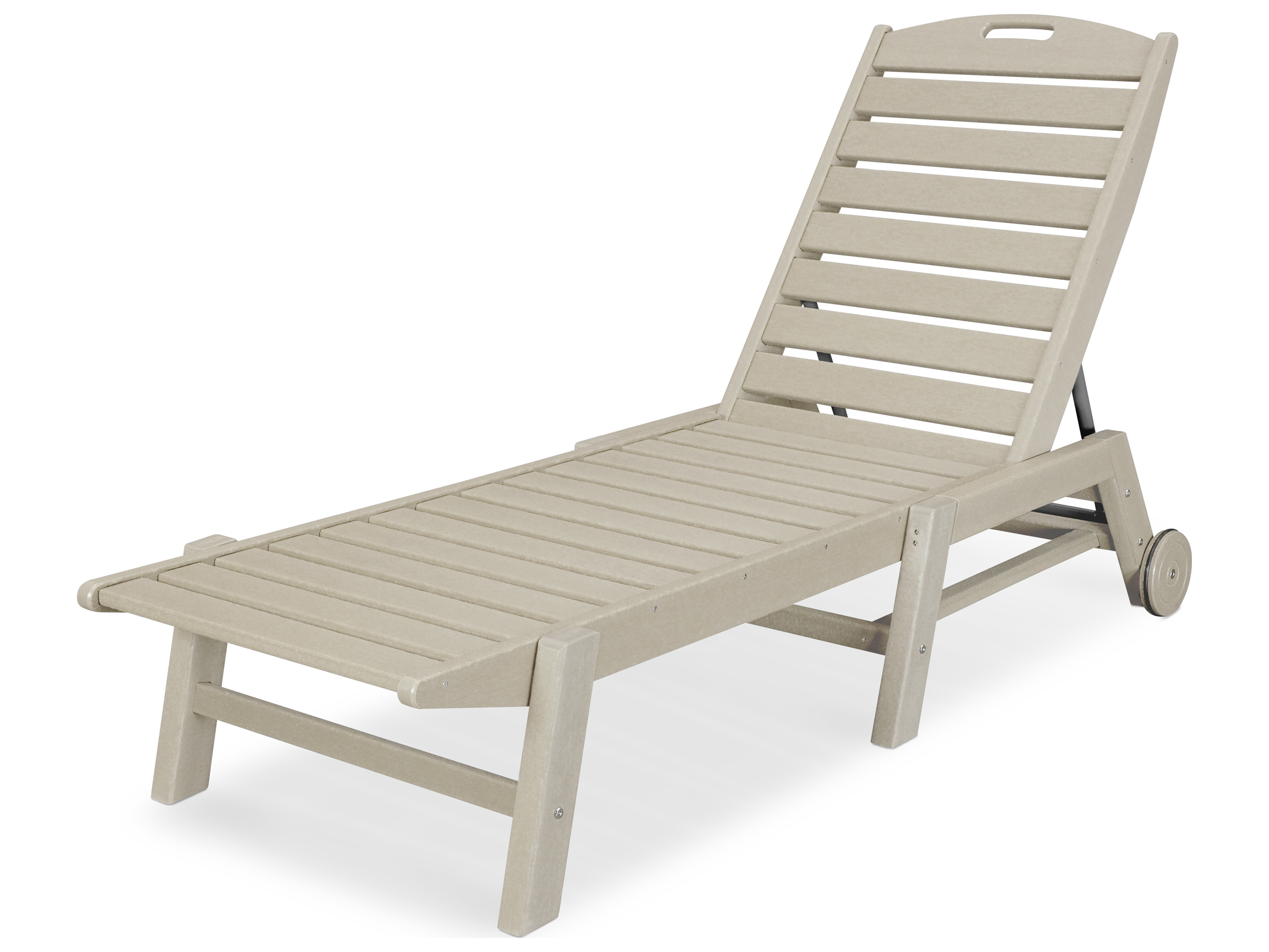 Polywood nautical recycled plastic stackable chaise for Chaise longue jardin pvc