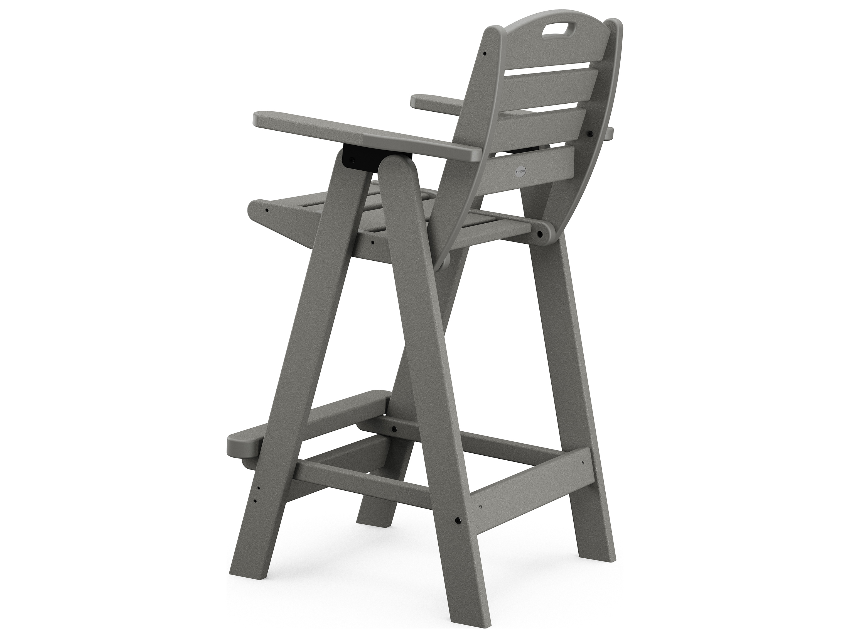 Polywood 174 Nautical Recycled Plastic Bar Chair Ncb46