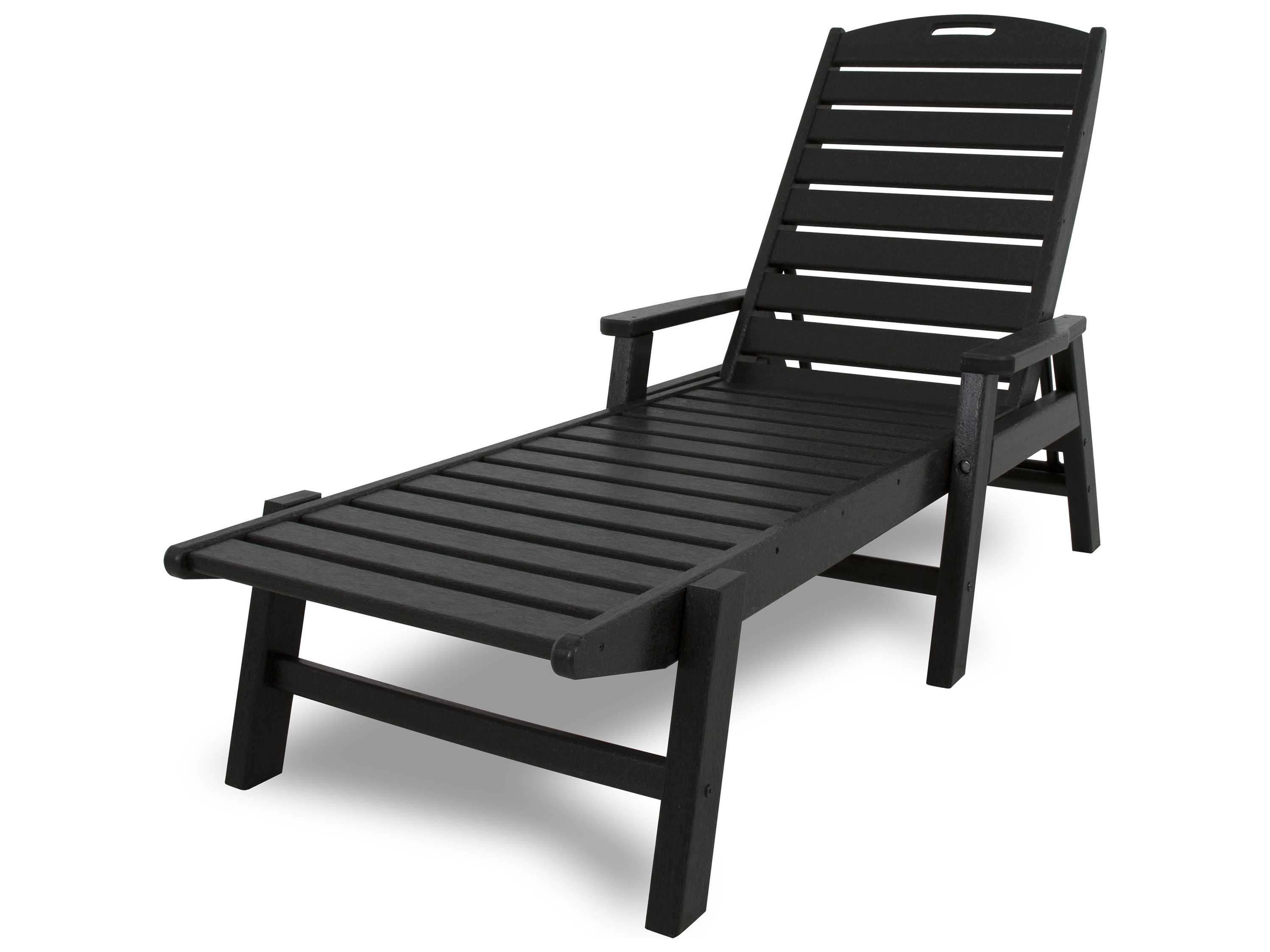 polywood nautical recycled plastic chaise lounge set nautilpch. Black Bedroom Furniture Sets. Home Design Ideas