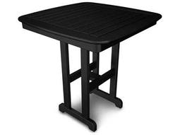 POLYWOOD® Nautical Recycled Plastic 37 Square Counter Table