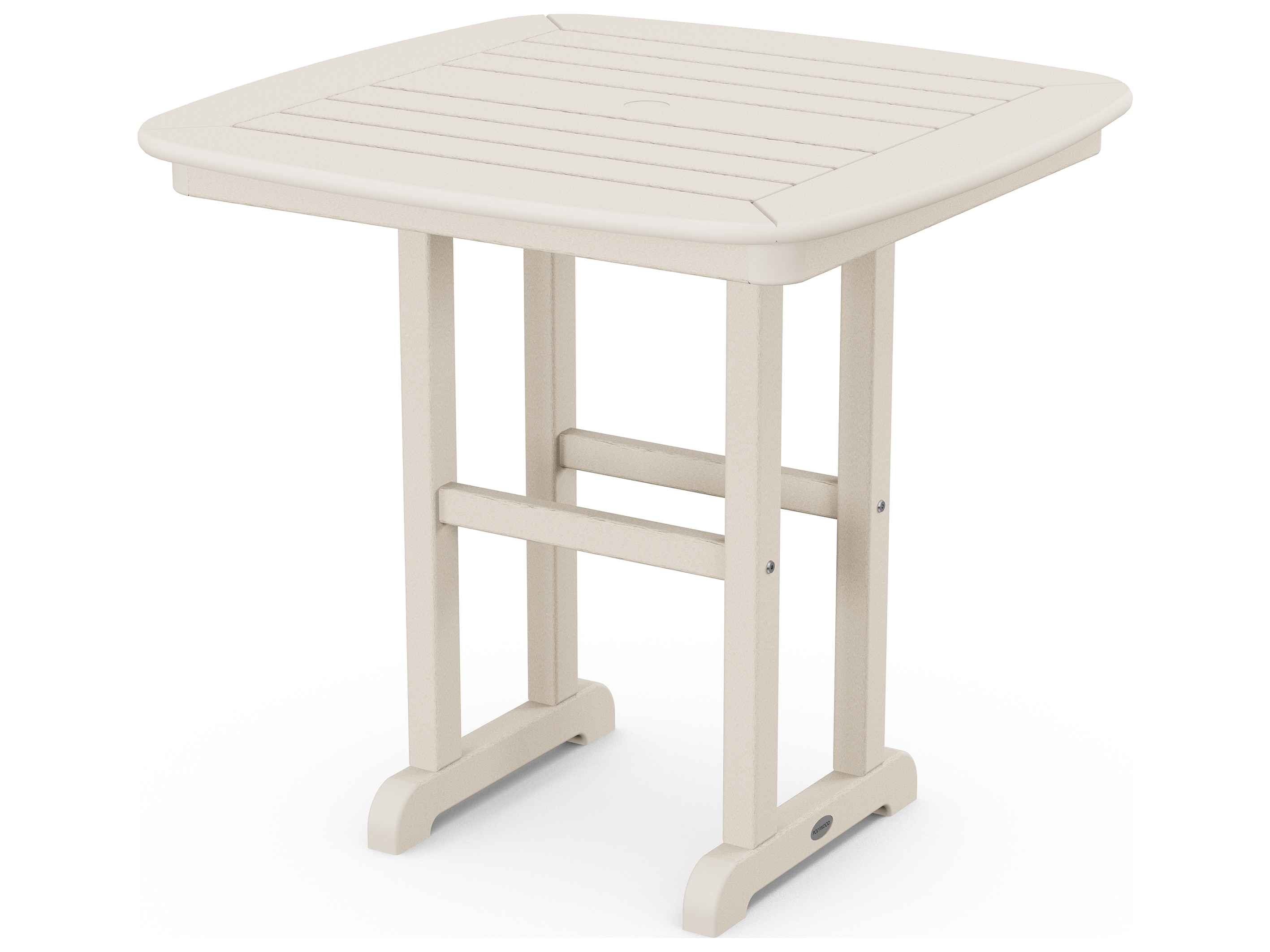 POLYWOOD Nautical Recycled Plastic 31 Square Dining Table NCT31