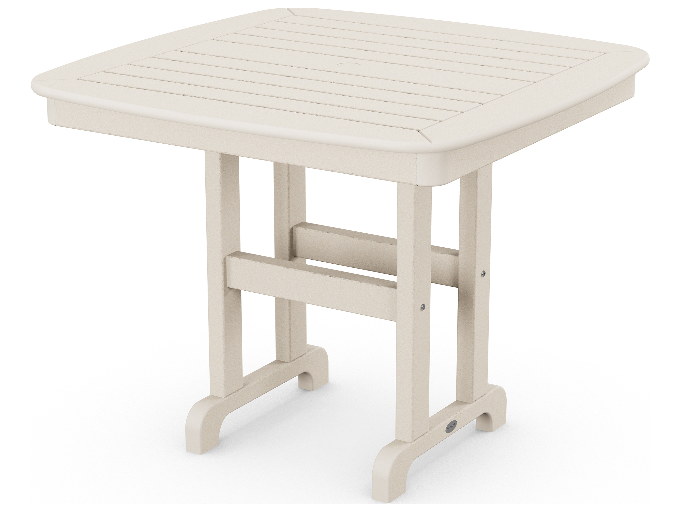 polywood nautical recycled plastic 37 square dining table