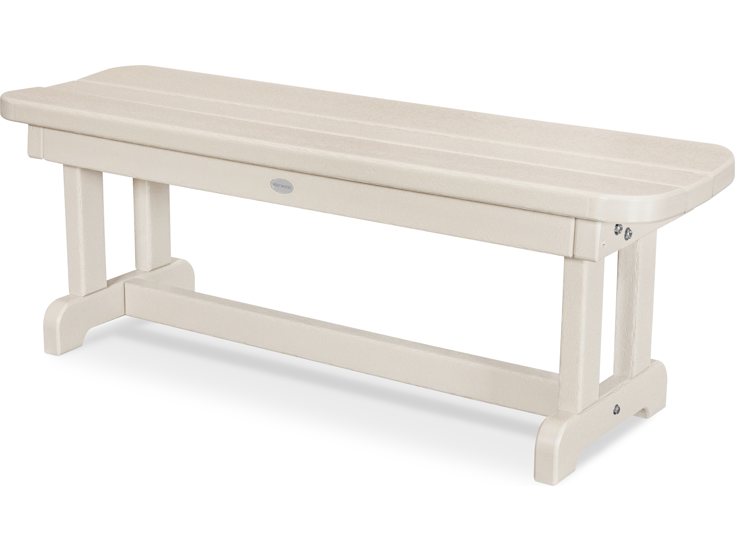 POLYWOOD Park Recycled Plastic 48 Backless Bench