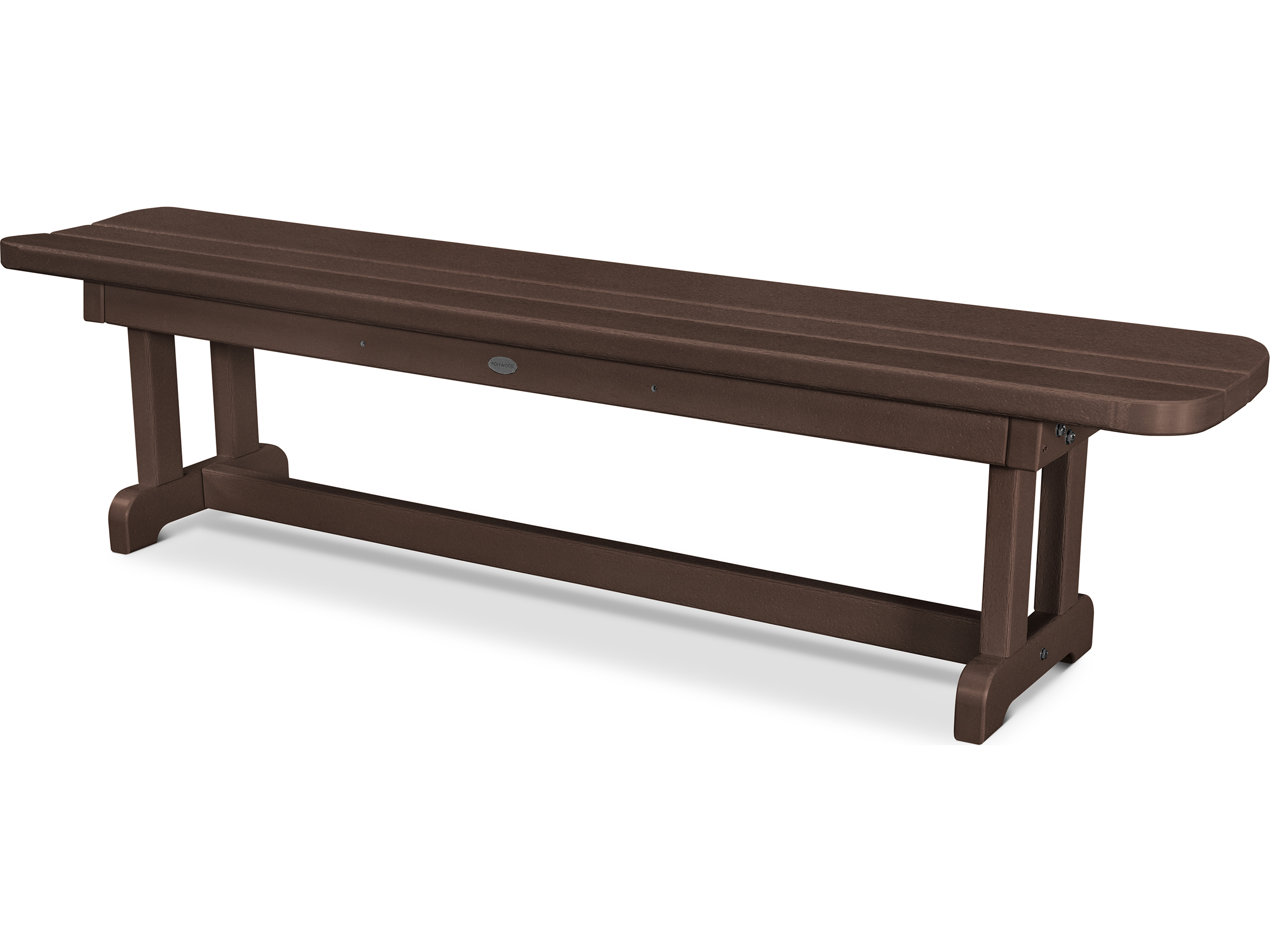Polywood Park Recycled Plastic 72 Backless Bench Pbb72
