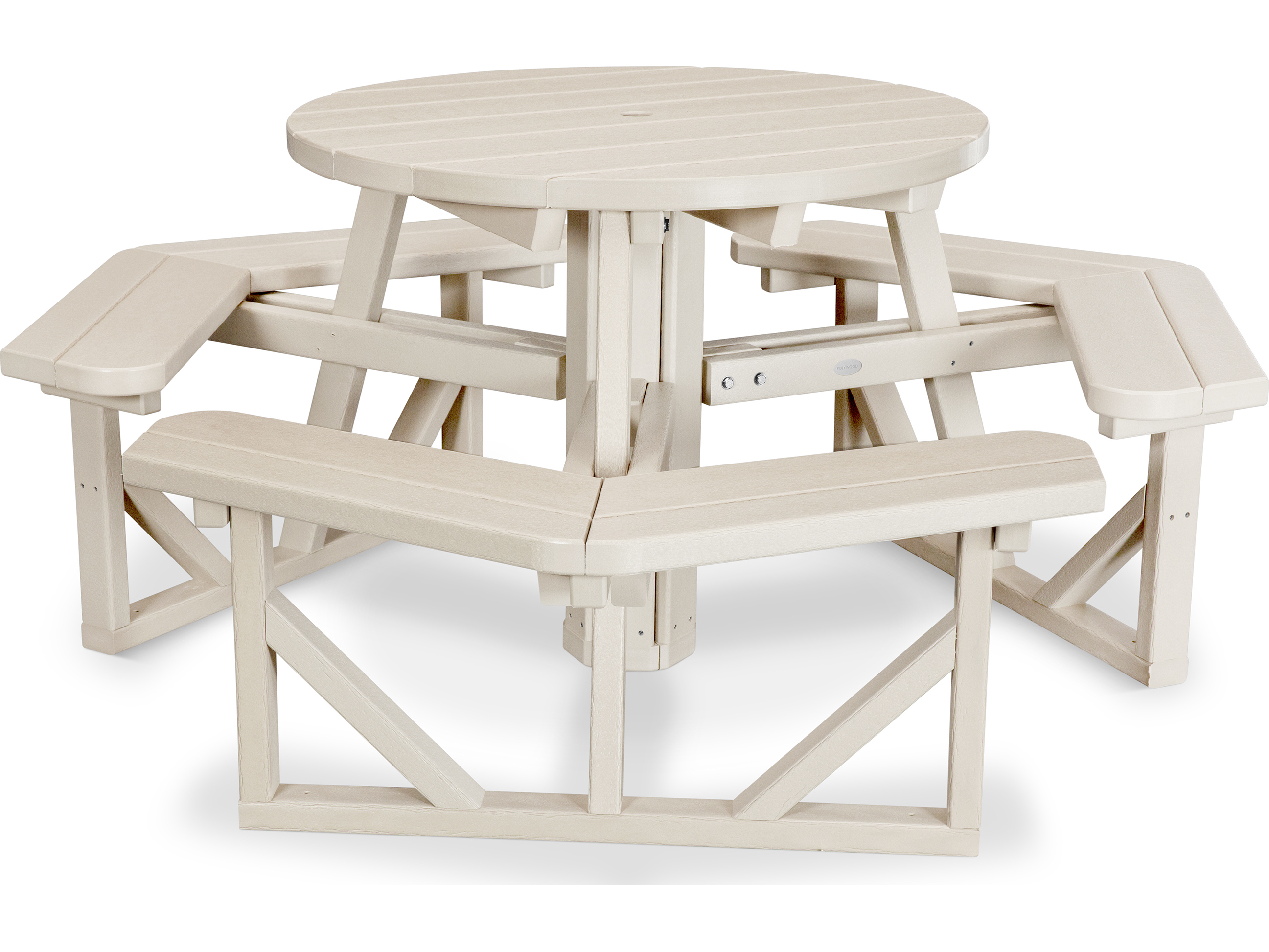 Plastic Picnic Table : POLYWOOD® Park Recycled Plastic 36 Round Picnic Table  PH36