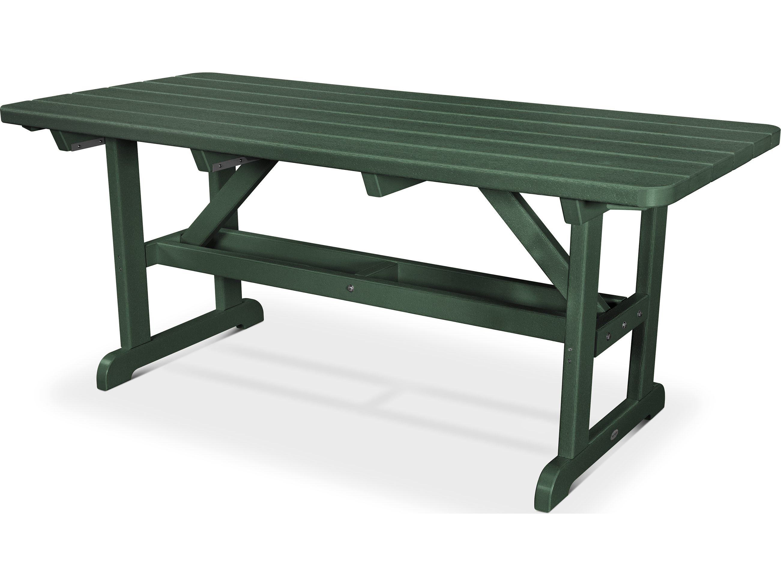 Plastic Picnic Table : ... ® Park Recycled Plastic 72 x 36 Rectangular Picnic Table  PT3672