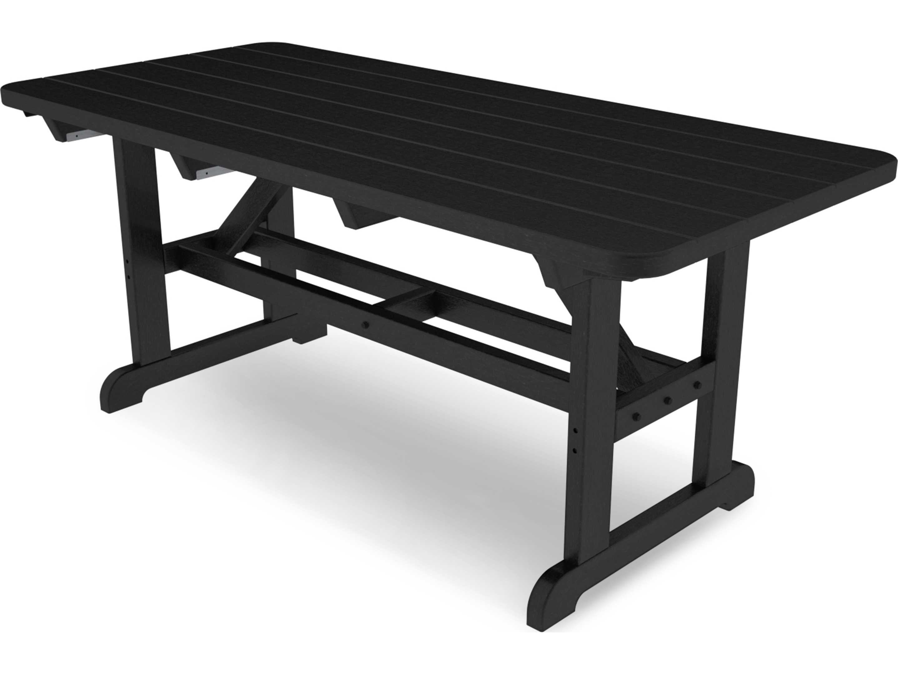polywood park recycled plastic 72 x 36 rectangular picnic table pt3672. Black Bedroom Furniture Sets. Home Design Ideas