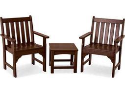 POLYWOOD® Vineyard Recycled Plastic 3-Piece Garden Chair Set