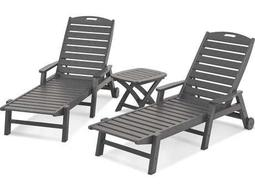 POLYWOOD® Nautical Recycled Plastic 3-Piece Chaise Set