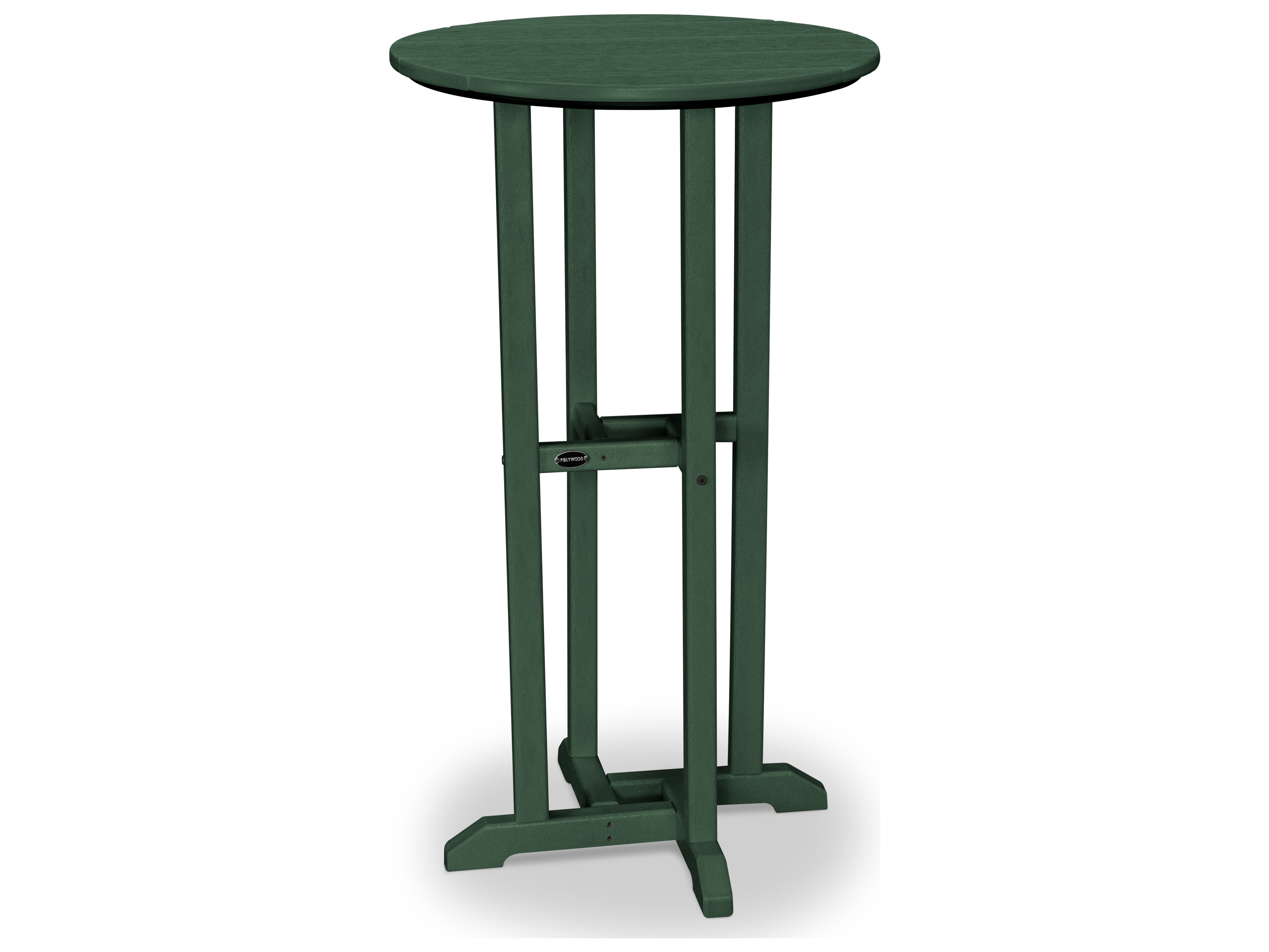 polywood traditional recycled plastic 24 round bar height table rbt124. Black Bedroom Furniture Sets. Home Design Ideas