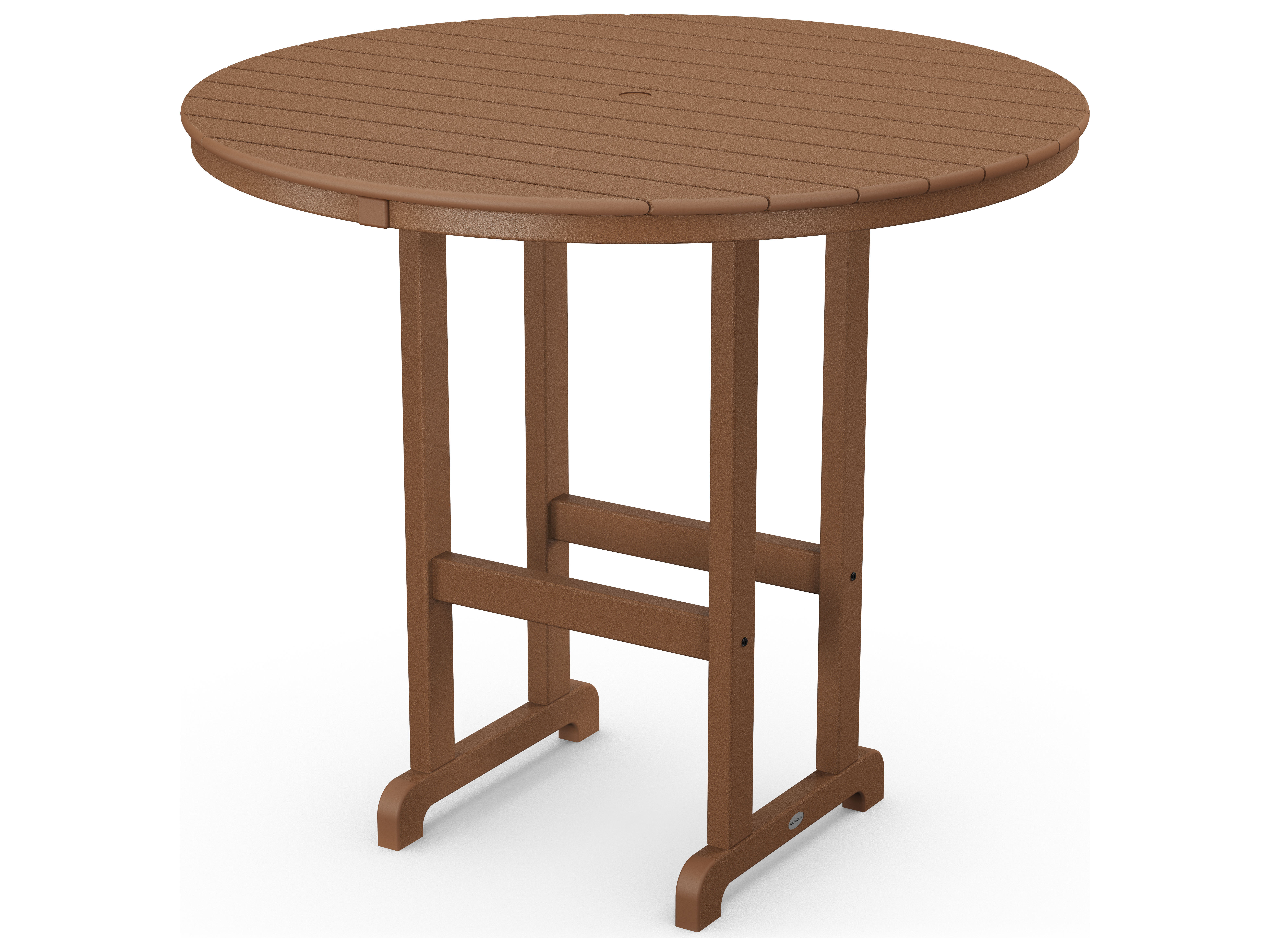 polywood traditional recycled plastic 48 round bar height table rbt248. Black Bedroom Furniture Sets. Home Design Ideas