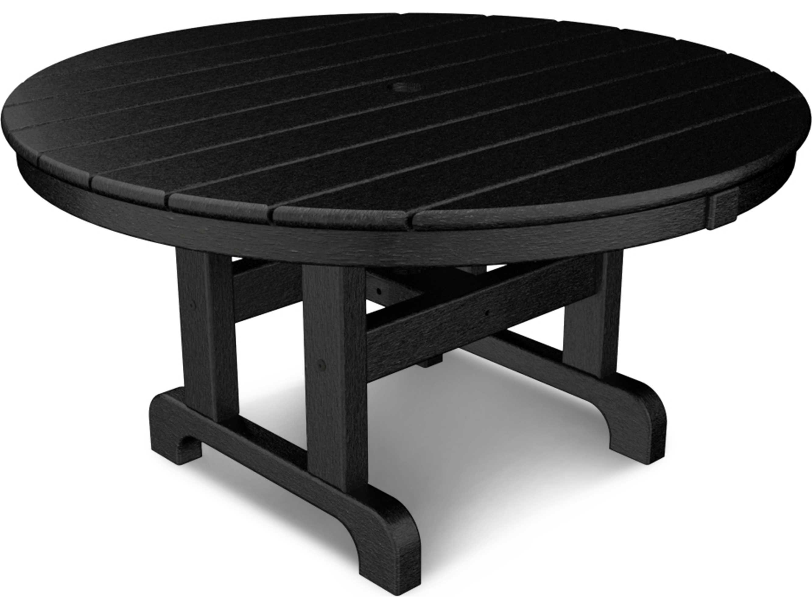 Polywood traditional recycled plastic 36 round chat table for Pvc patio table
