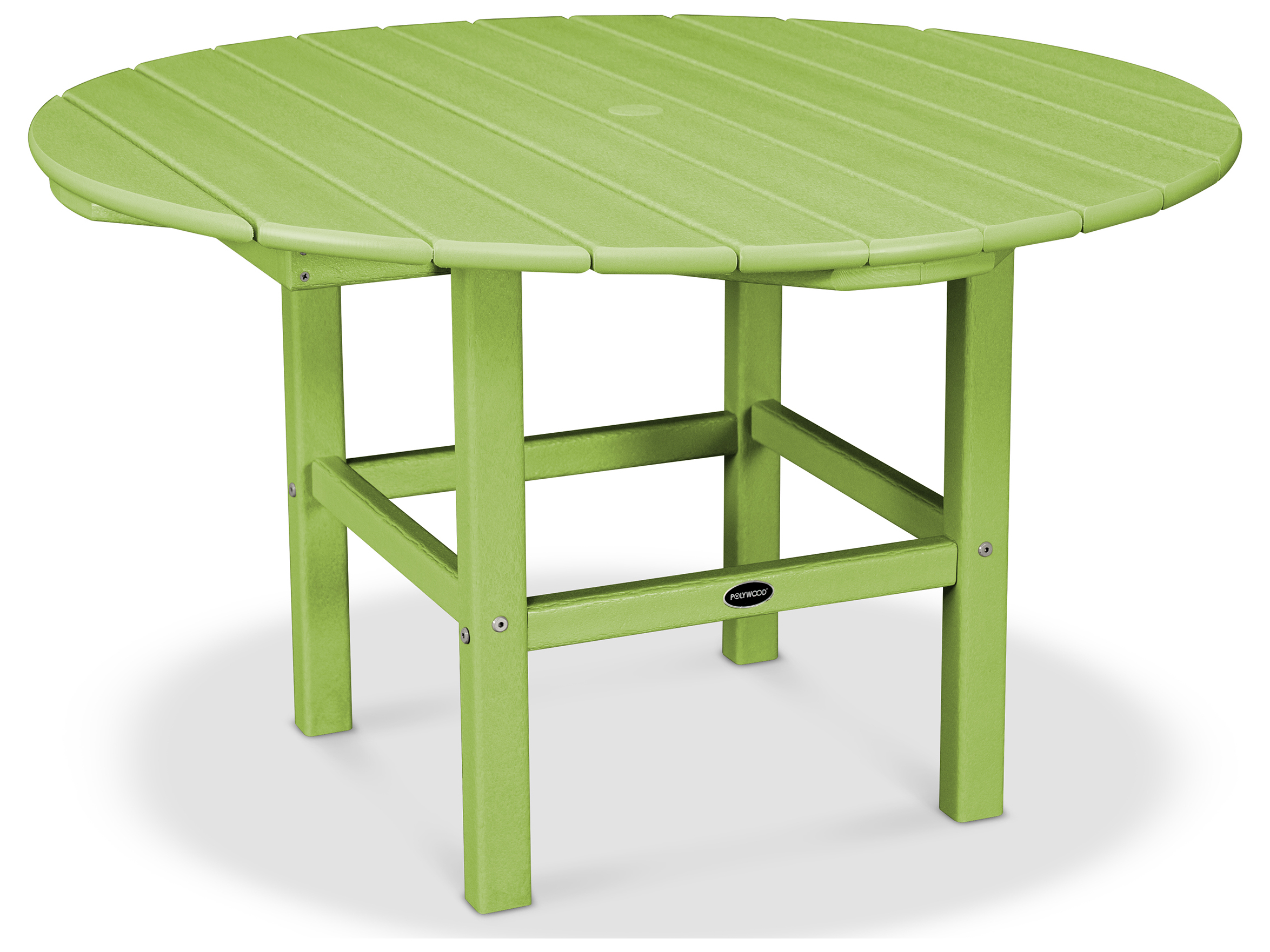 polywood kids recycled plastic 38 round dining table rkt38
