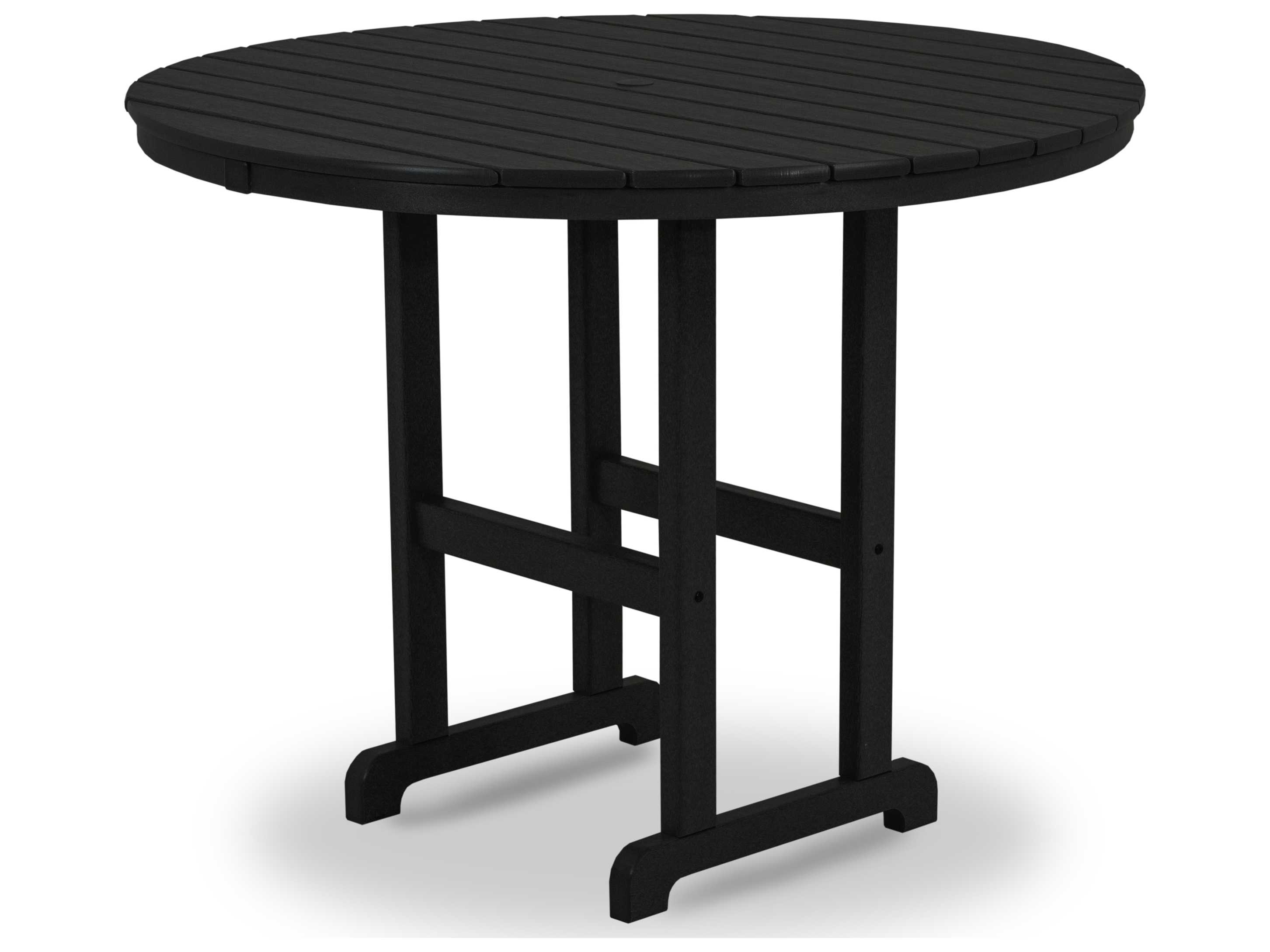 Counter Height Patio Dining Sets : Traditional Recycled Plastic 48 Round Counter Height Table