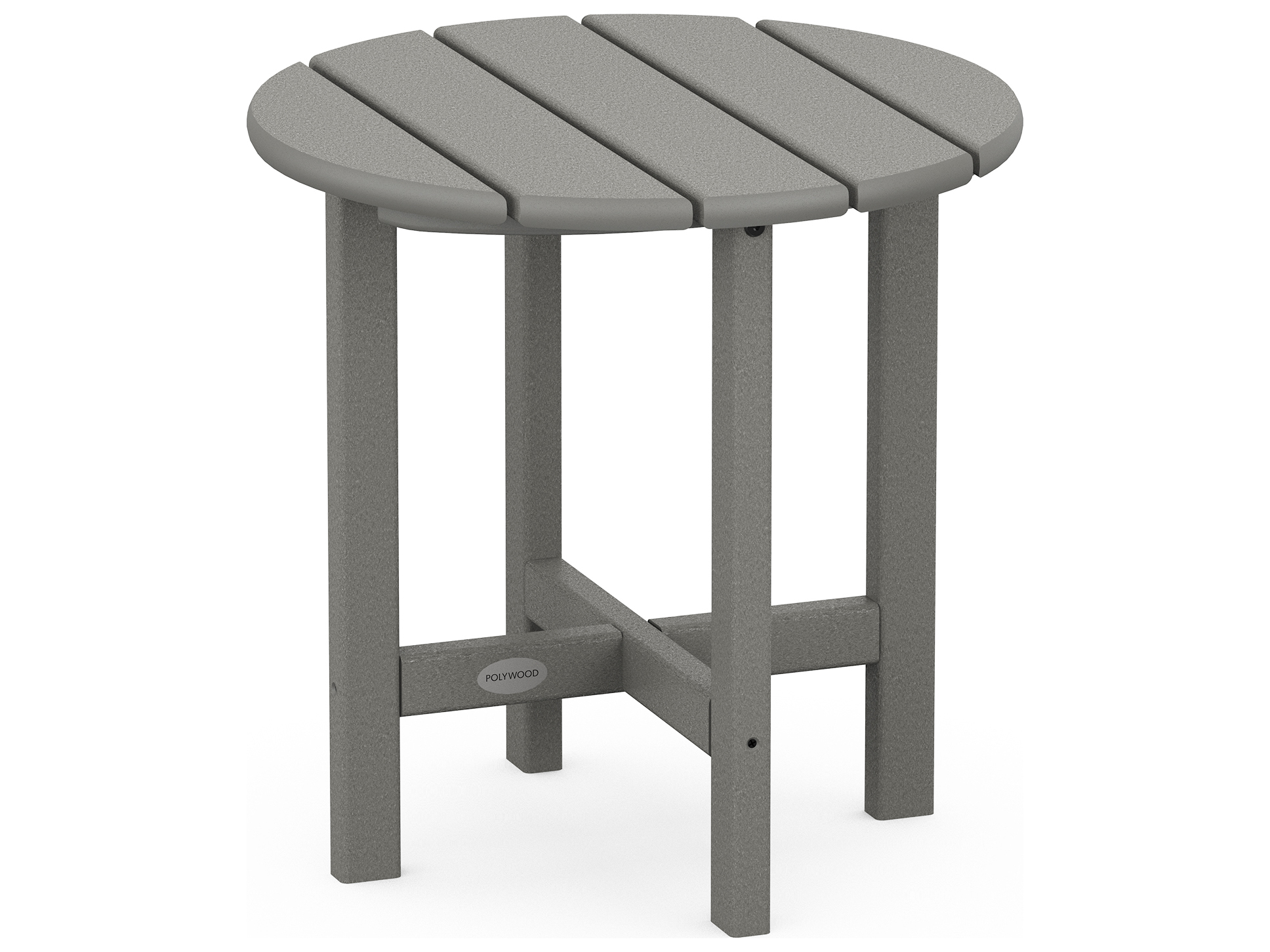 Polywood 174 Traditional Recycled Plastic 18 Round End Table