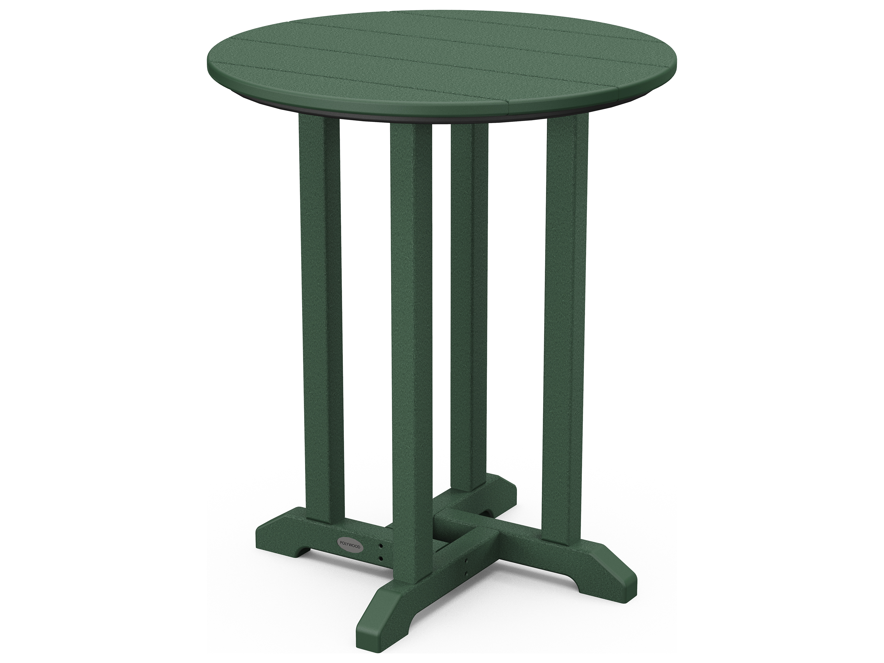 Polywood traditional recycled plastic 24 round bistro for Pvc patio table