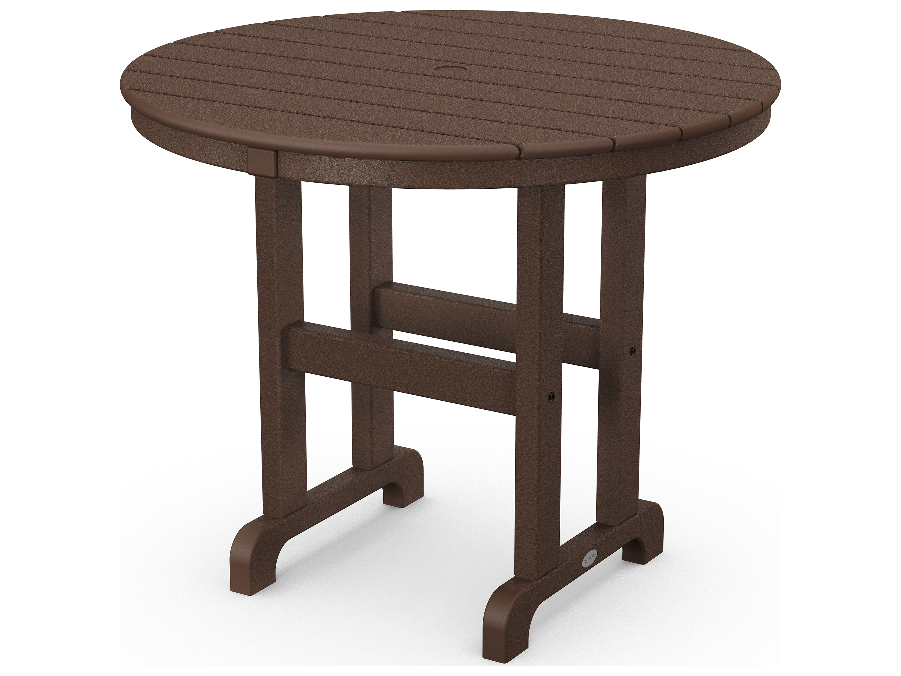 polywood la casa cafe recycled plastic 36 round dining table rt236