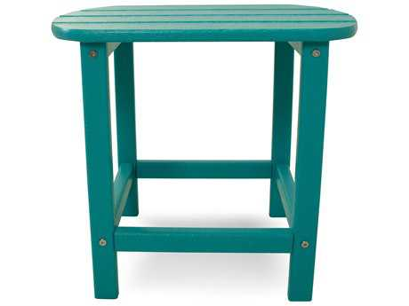 POLYWOOD South Beach Recycled Plastic 19 x 15 Oval End Table Slate Grey - SBT18-SG