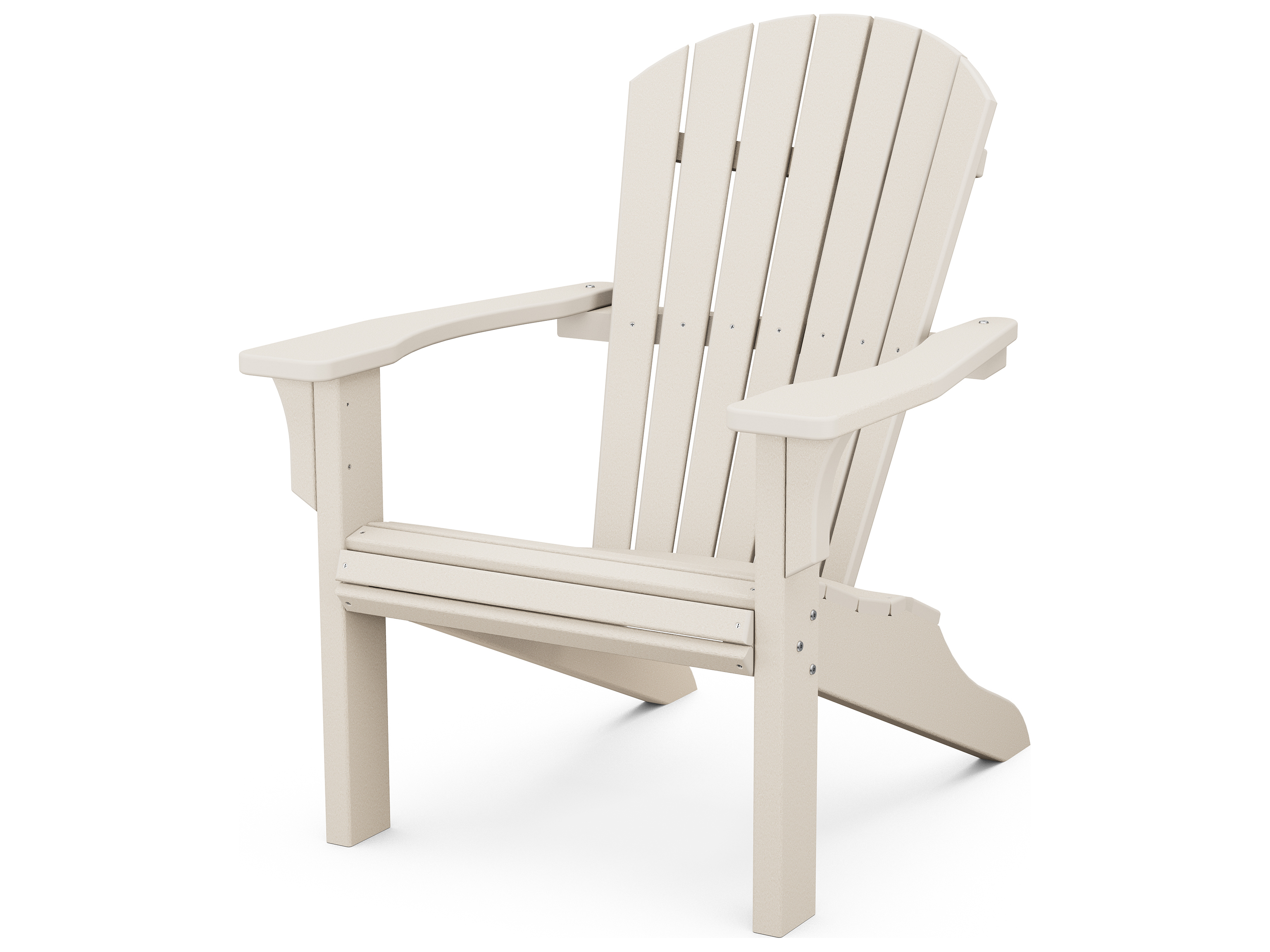 POLYWOOD Seashell Recycled Plastic Adirondack Chair