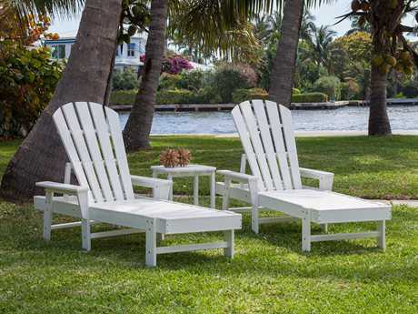 POLYWOOD South Beach Recycled Plastic 2 Person Recycled Plastic Pool Patio Lounge Set