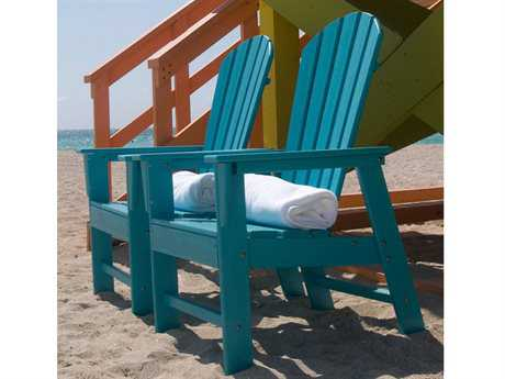 POLYWOOD South Beach Recycled Plastic 2 Person Recycled Plastic Conversation Patio Lounge Set