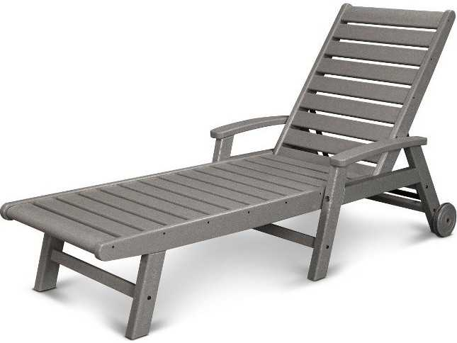 polywood signature recycled plastic wheel chaise lounge