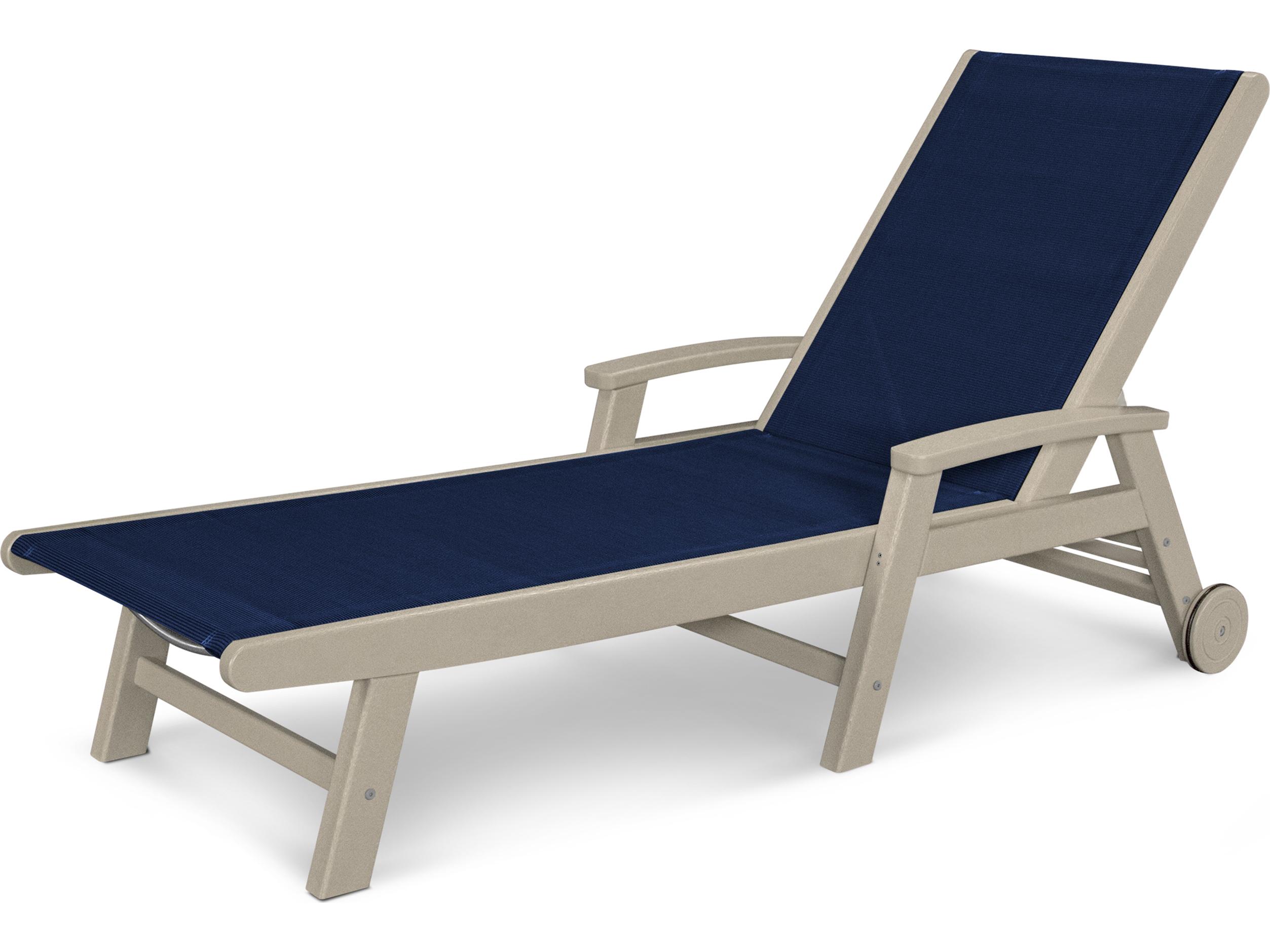 Polywood coastal sling aluminum chaise lounge sw2290 for Aluminum chaise lounge