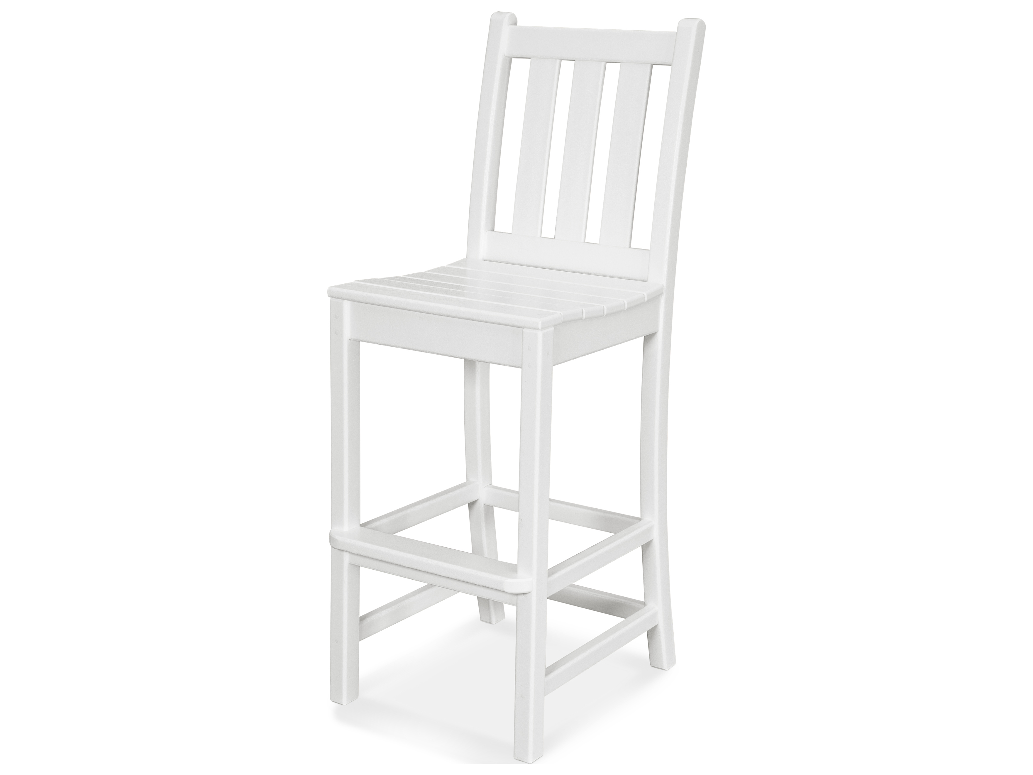 Polywood 174 Traditional Garden Recycled Plastic Bar Stool