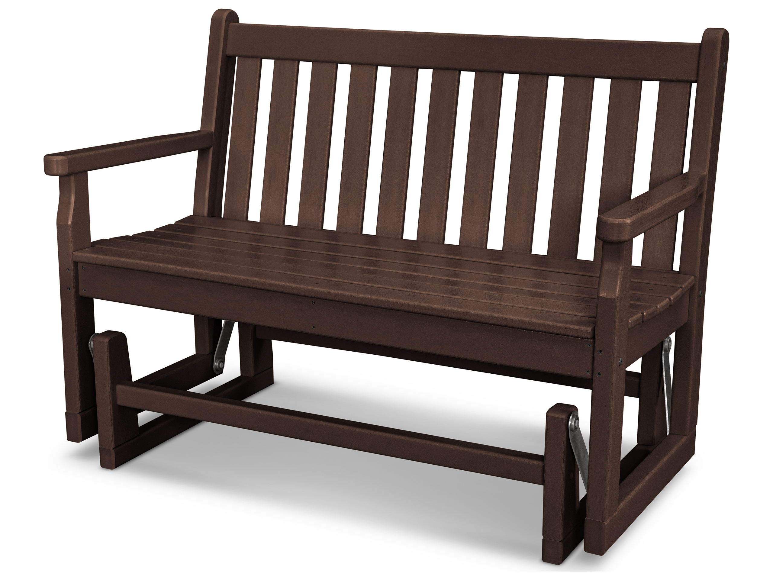 Polywood Traditional Garden Recycled Plastic Glider Bench
