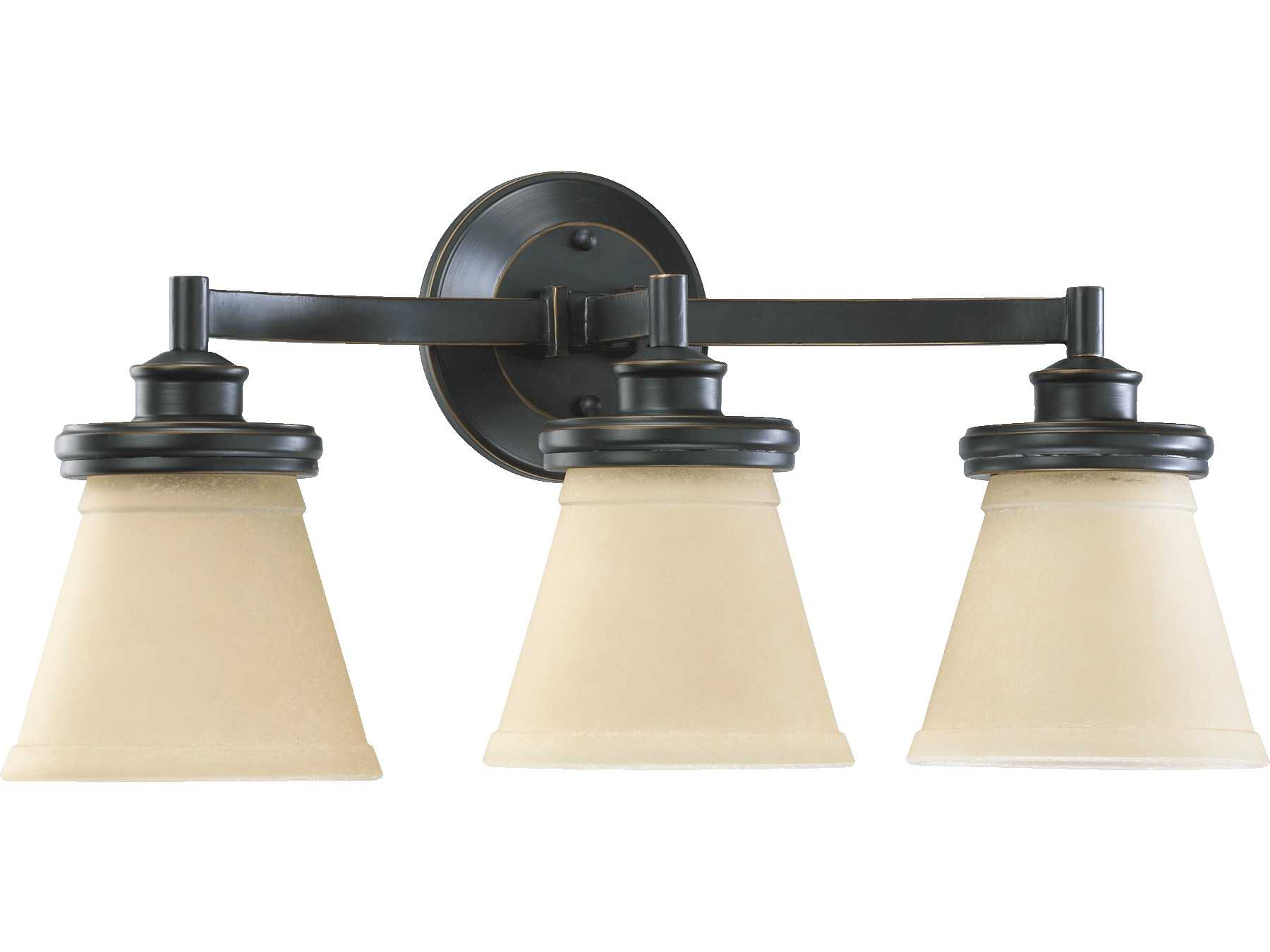 Quorum Vanity Lights : Quorum International Old World Three-Lights Vanity Light 5052-3-95