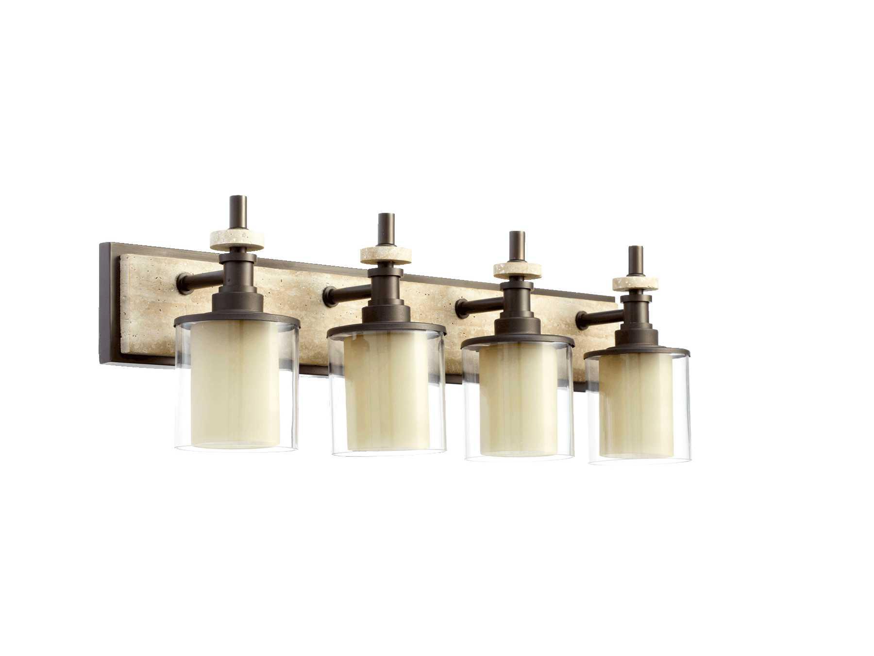 Quorum Vanity Lights : Quorum International Concord Oiled Bronze Four-Lights Vanity Light 5064-4-86